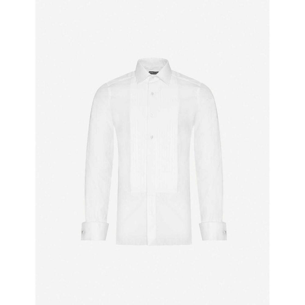 トム フォード TOM FORD メンズ シャツ トップス【Slim-fit cotton evening shirt】WHITE
