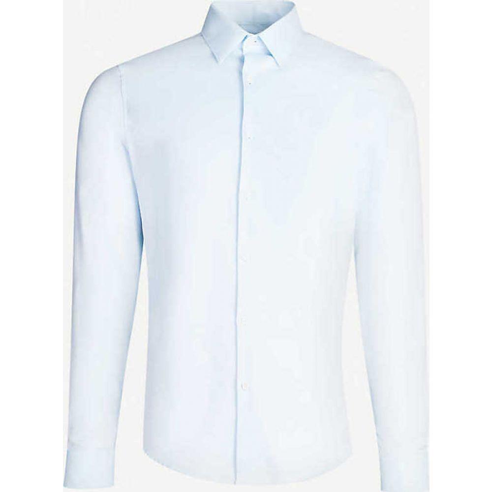 サンドロ SANDRO メンズ シャツ トップス【Classic-fit cotton shirt】Sky blue