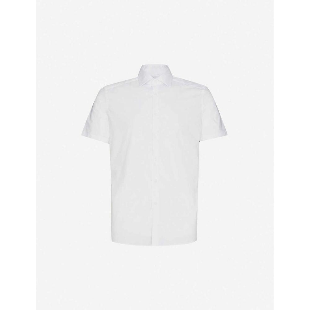 リース REISS メンズ 半袖シャツ トップス【Eddie short-sleeve stretch-cotton shirt】WHITE