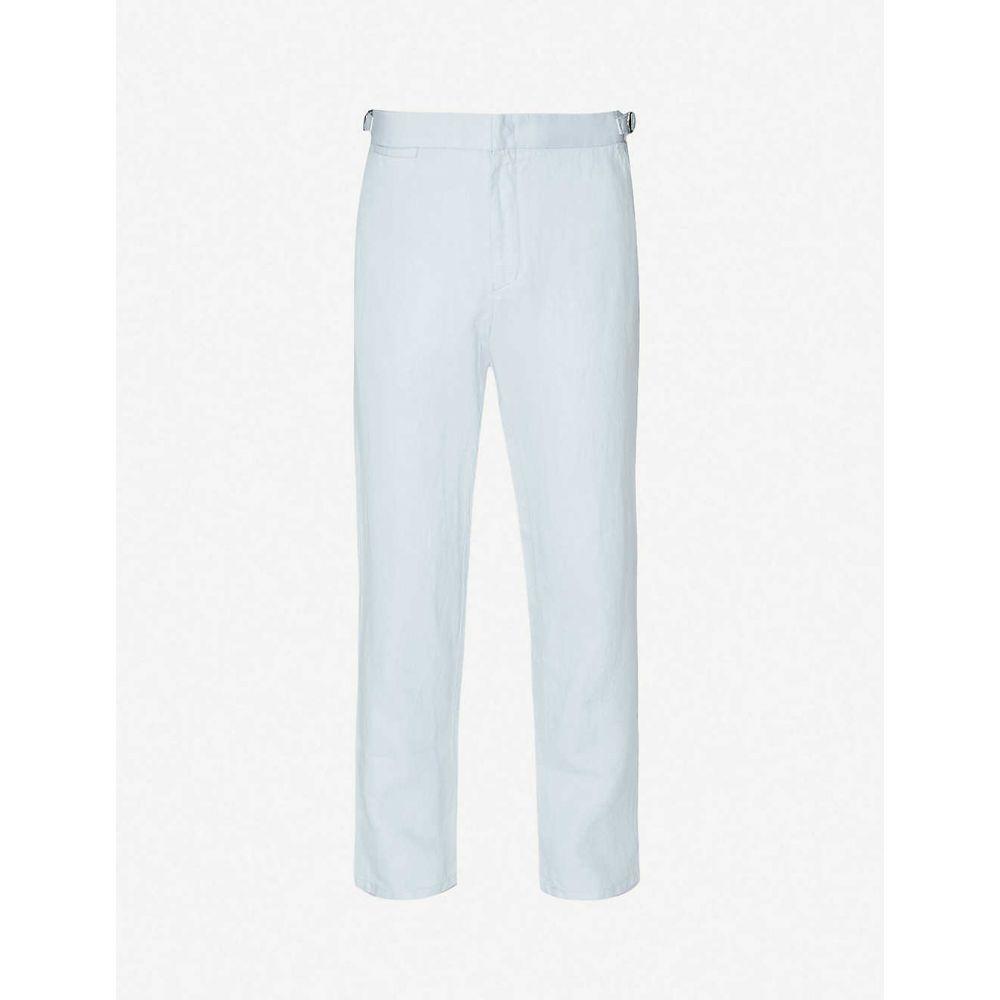 オールバー ブラウン ORLEBAR BROWN メンズ スキニー・スリム ボトムス・パンツ【Griffon slim-fit straight linen trousers】Pale Sea Breeze