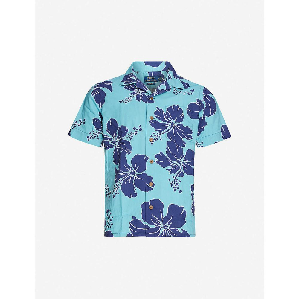 ラルフ ローレン POLO RALPH LAUREN メンズ 半袖シャツ トップス【Hawaiian-print slim-fit cotton shirt】Shadow Hibiscus