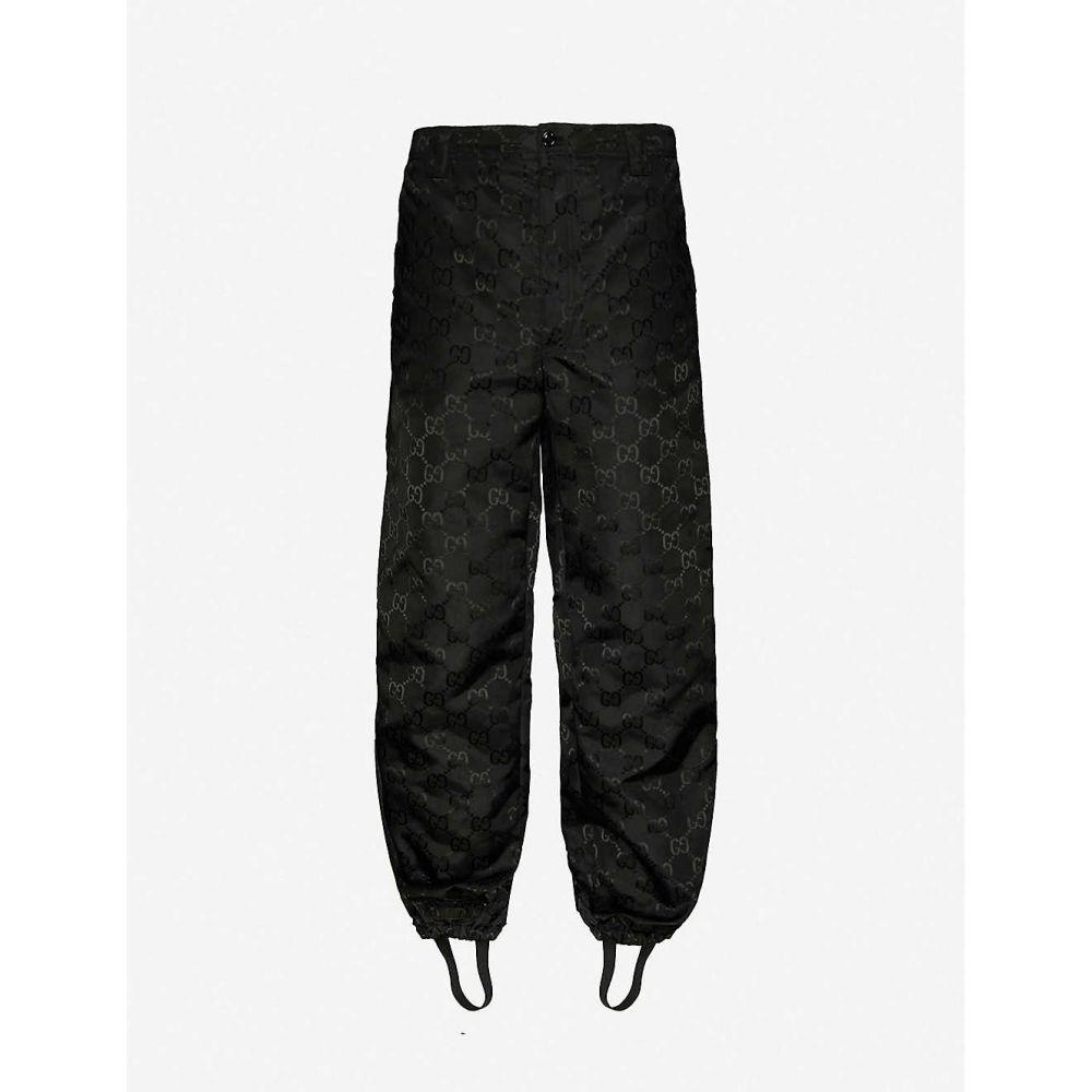 グッチ GUCCI メンズ ボトムス・パンツ 【Logo-print shell trousers】BLACK