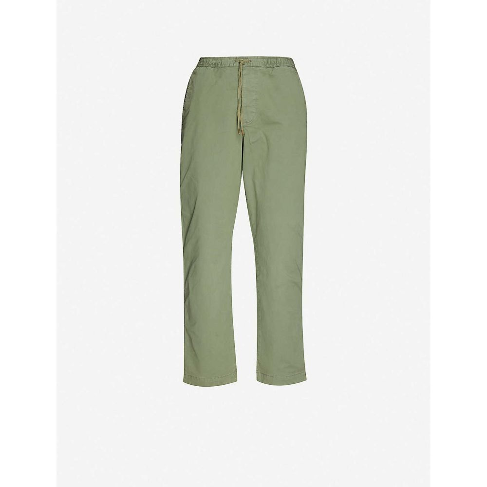 ラルフ ローレン POLO RALPH LAUREN メンズ スキニー・スリム ボトムス・パンツ【Logo-embroidered slim-fit tapered stretch-cotton trousers】GREEN