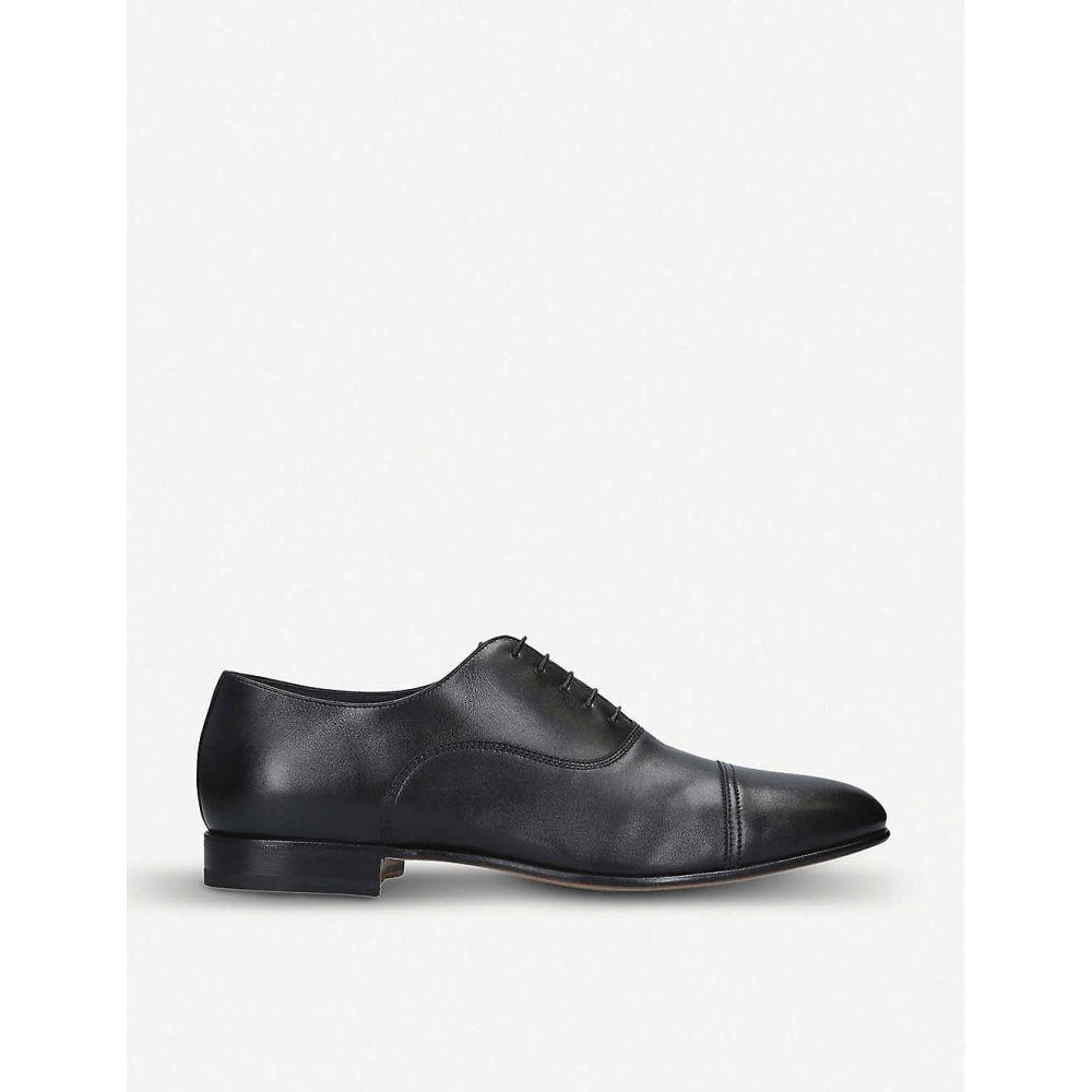 サントーニ SANTONI メンズ 革靴・ビジネスシューズ シューズ・靴【Kenneth leather Oxford shoes】BLACK