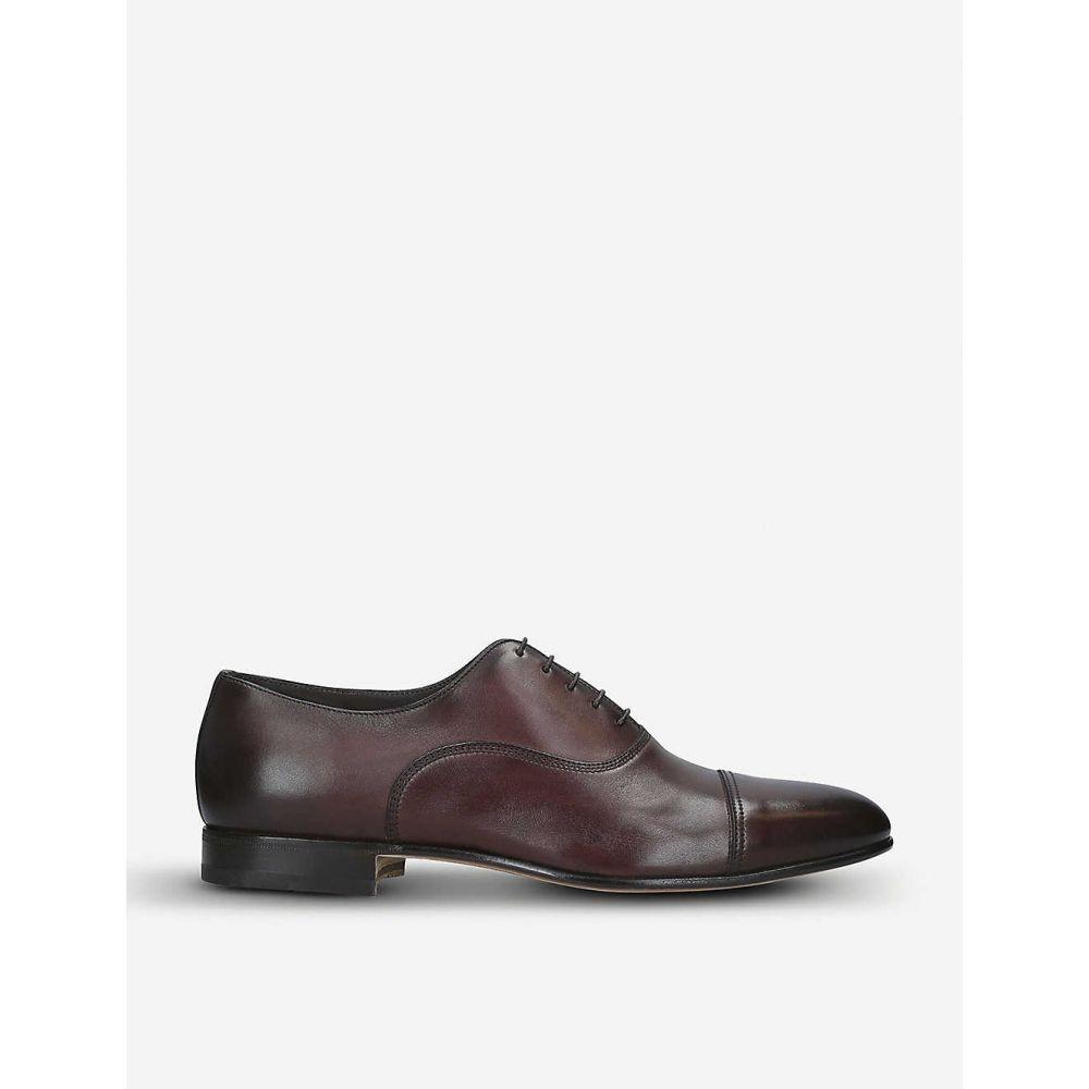 サントーニ SANTONI メンズ 革靴・ビジネスシューズ シューズ・靴【Kenneth leather Oxford shoes】BROWN