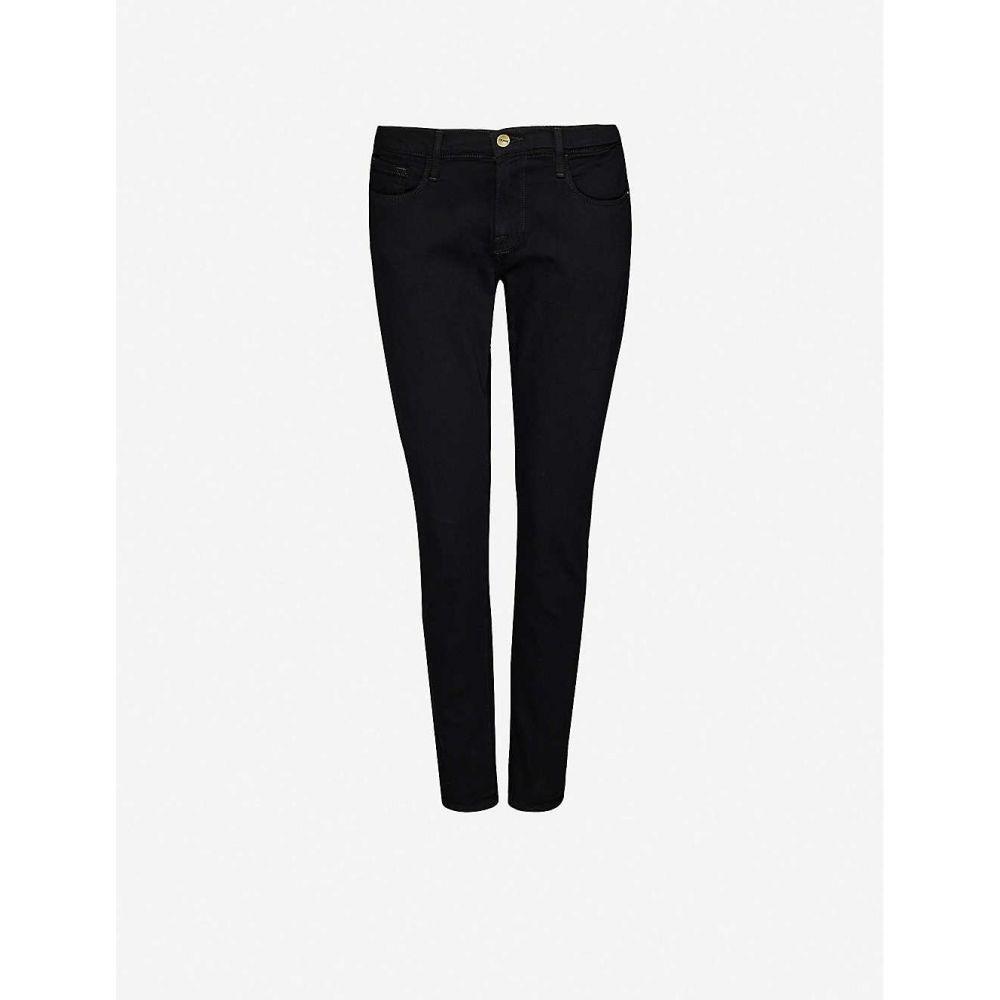 フレーム FRAME レディース ジーンズ・デニム ボトムス・パンツ【Le Garcon straight-leg mid-rise stretch-denim jeans】Noir
