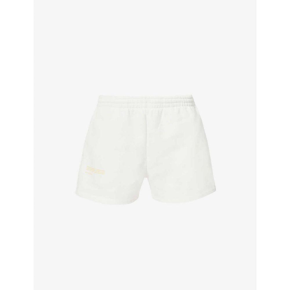 パンゲア PANGAIA レディース ショートパンツ ボトムス・パンツ【Branded high-rise organic cotton-blend shorts】WHITE