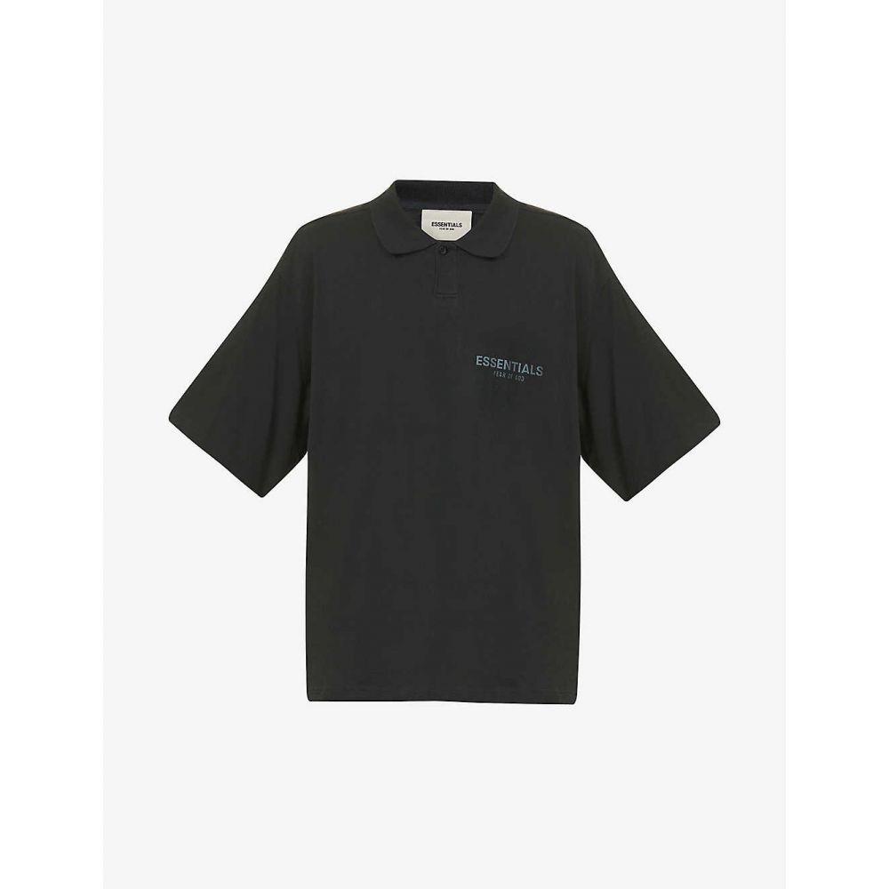 エフオージー エッセンシャルズ FOG X ESSENTIALS メンズ ポロシャツ トップス【Logo-print cotton-jersey polo shirt】STRETCH LIMO