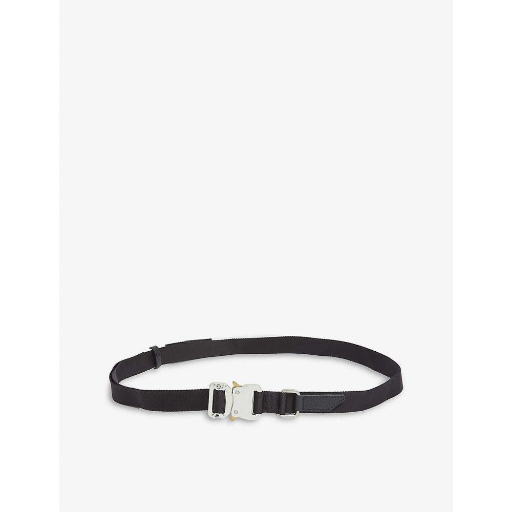 アリクス 1017 ALYX 9SM メンズ ベルト 【Rollercoaster buckled leather-trimmed woven belt】BLACK