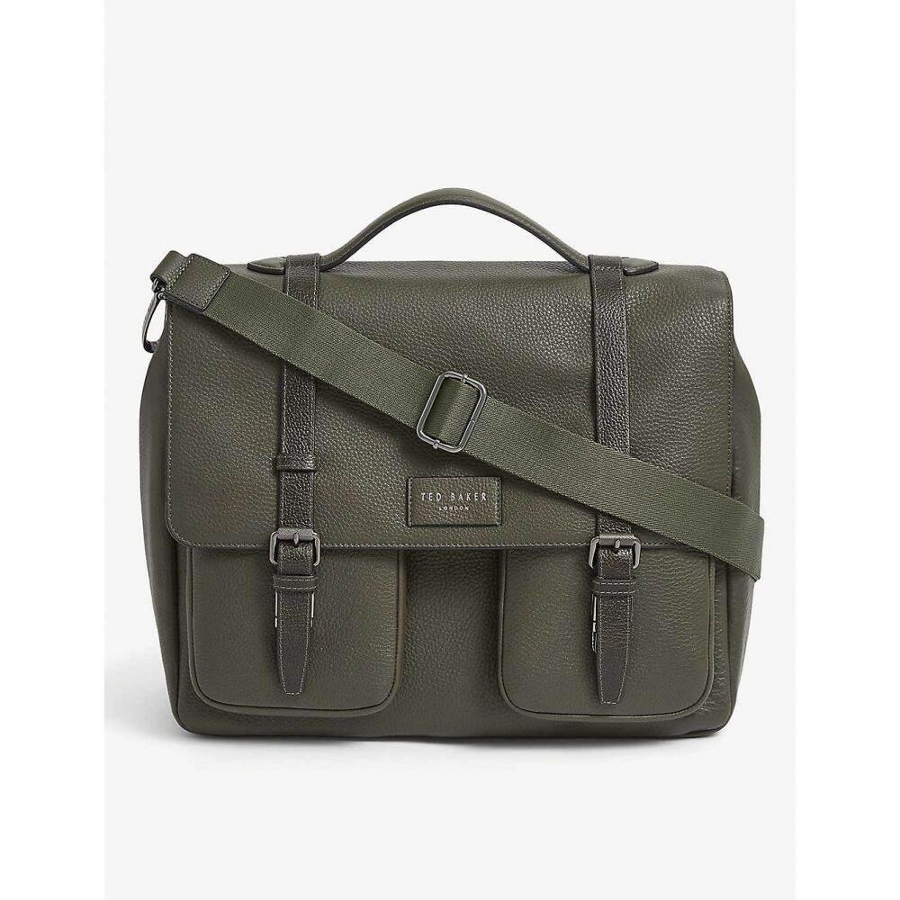 テッドベーカー TED BAKER メンズ ビジネスバッグ・ブリーフケース サッチェルバッグ バッグ【Pebbled leather satchel bag】OLIVE