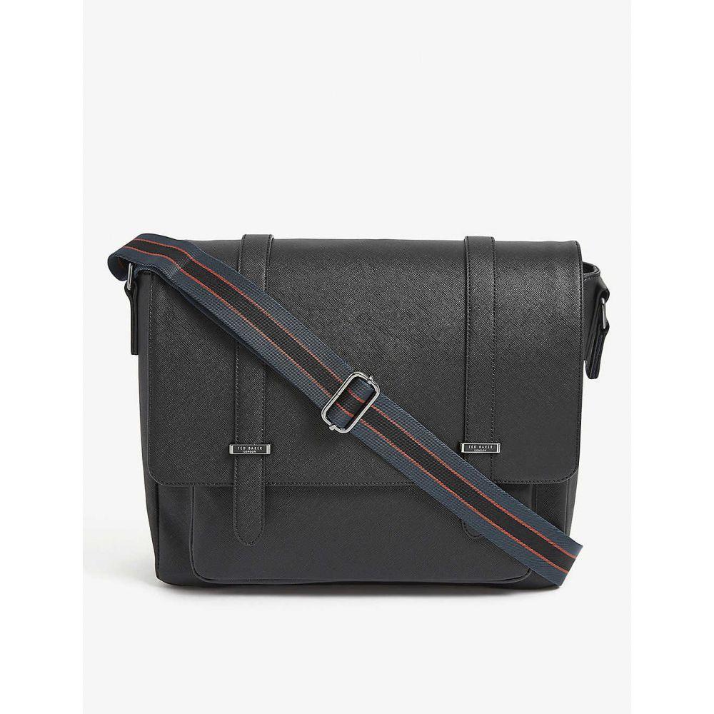 テッドベーカー TED BAKER メンズ ビジネスバッグ・ブリーフケース サッチェルバッグ バッグ【Onefor crossgrain PU satchel】BLACK