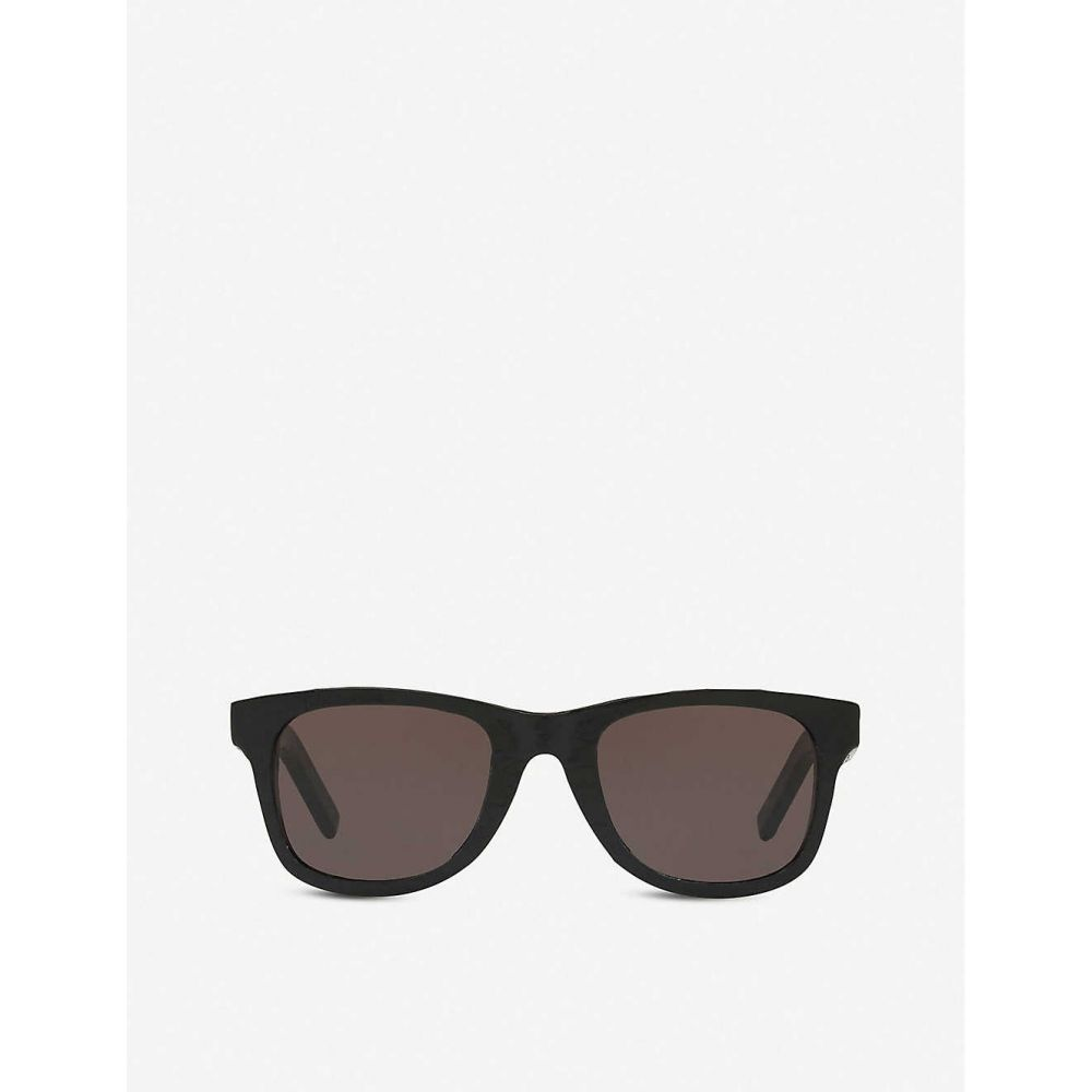 イヴ サンローラン SAINT LAURENT レディース メガネ・サングラス スクエアフレーム【SL51 acetate square-frame sunglasses】BLACK
