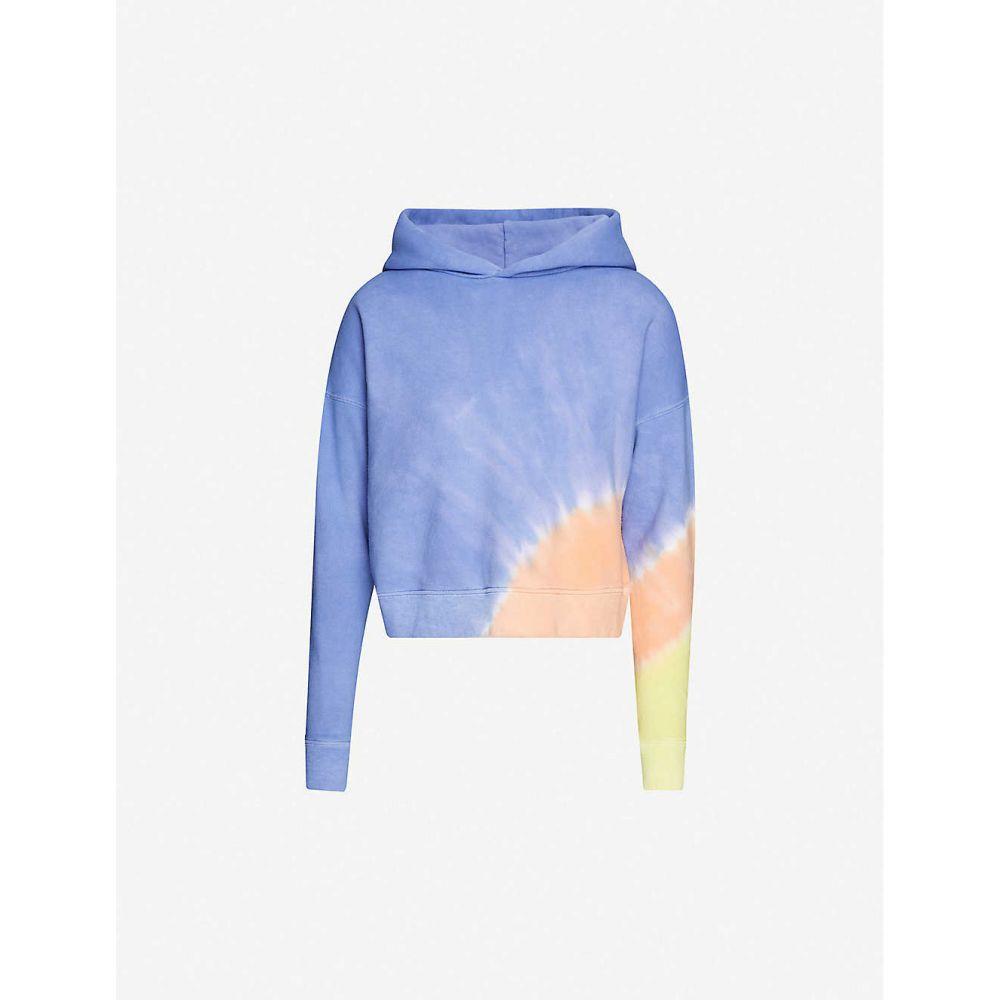 メイシー ウイレム MAISIE WILLEN レディース パーカー トップス【Glow tie-dye cotton-jersey hoody】SUNSET