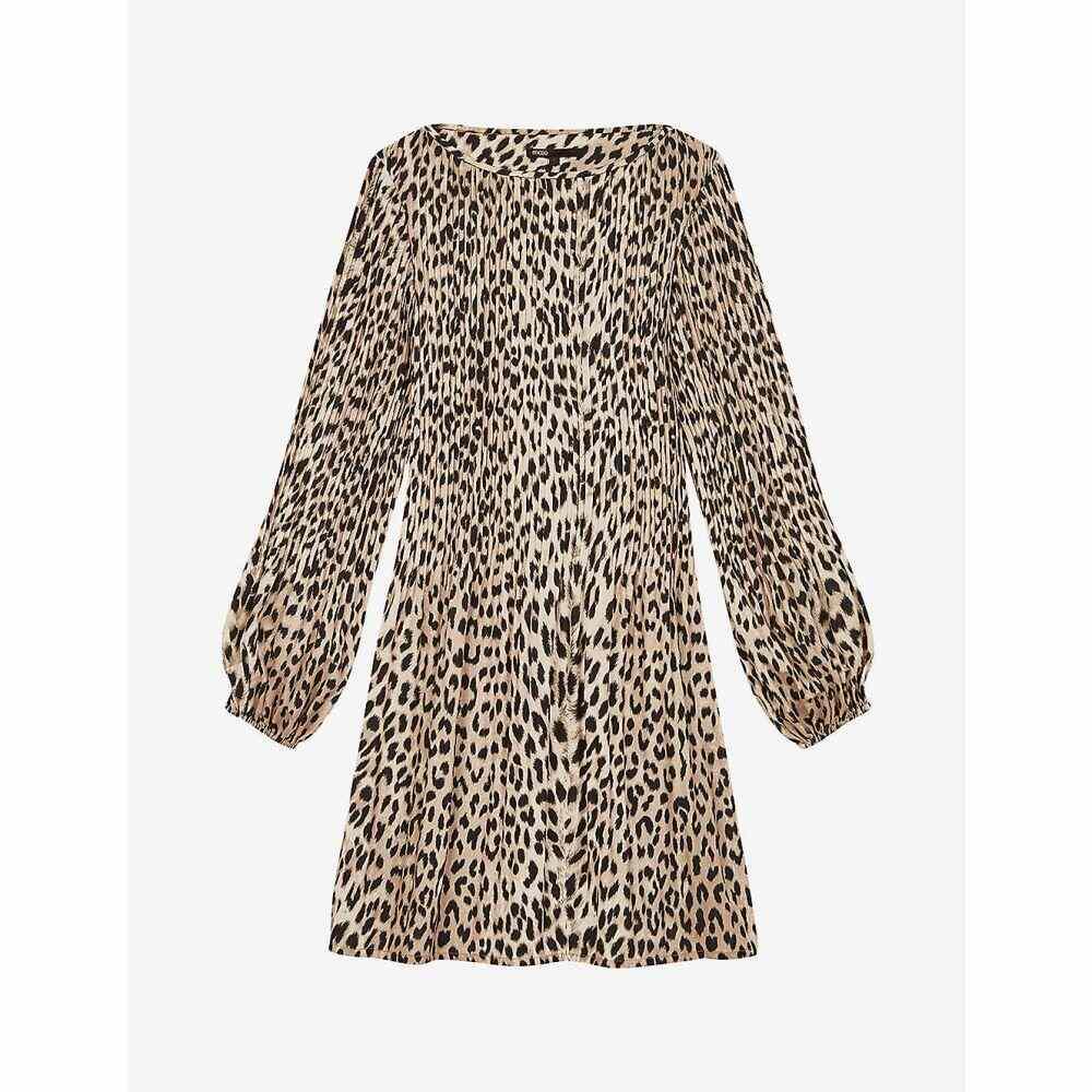 マージュ MAJE レディース ワンピース ミニ丈 ワンピース・ドレス【Rockine leopard print mini dress】NATURAL LEOPARD