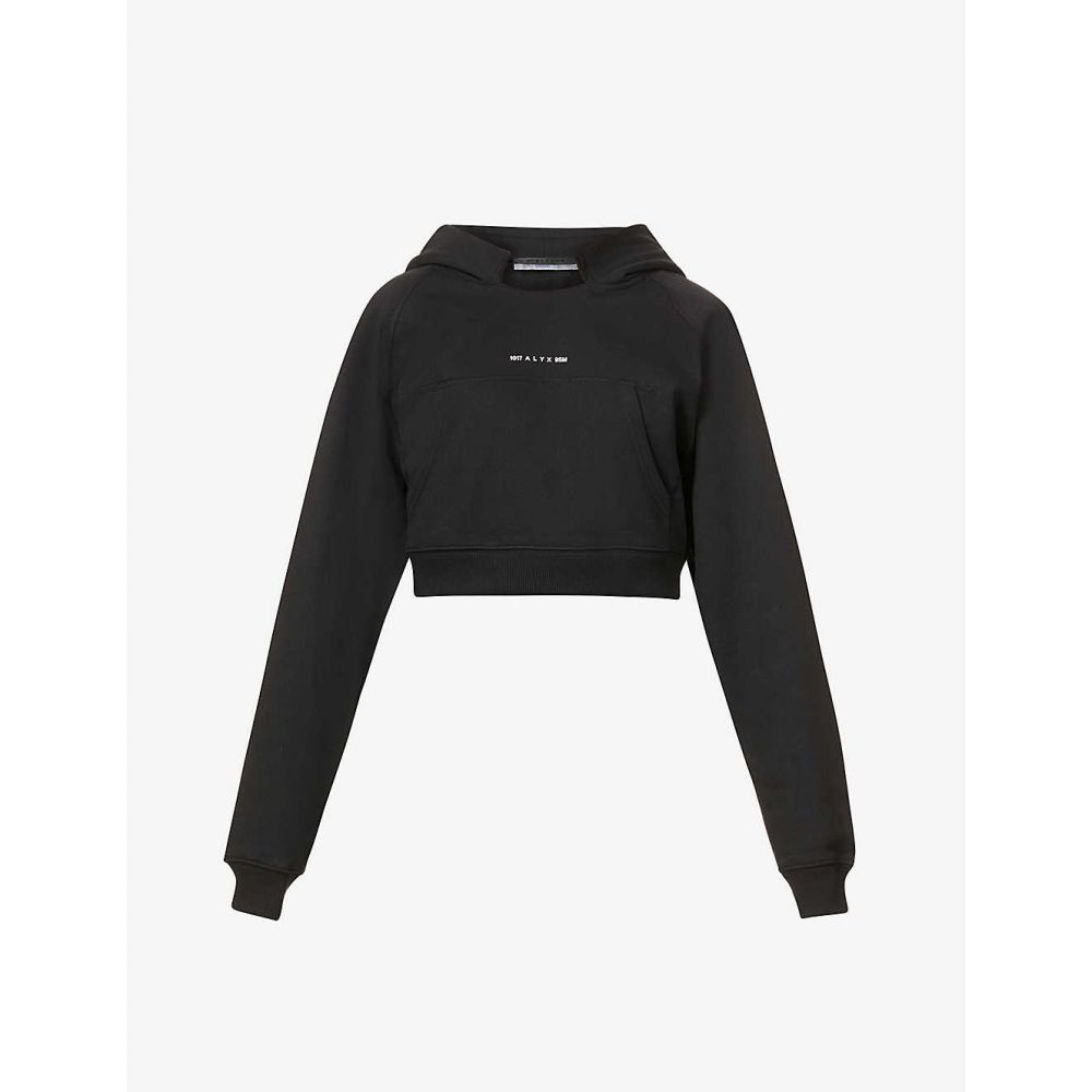 アリクス 1017 ALYX 9SM レディース パーカー トップス【Visual cropped cotton-blend hoody】BLACK