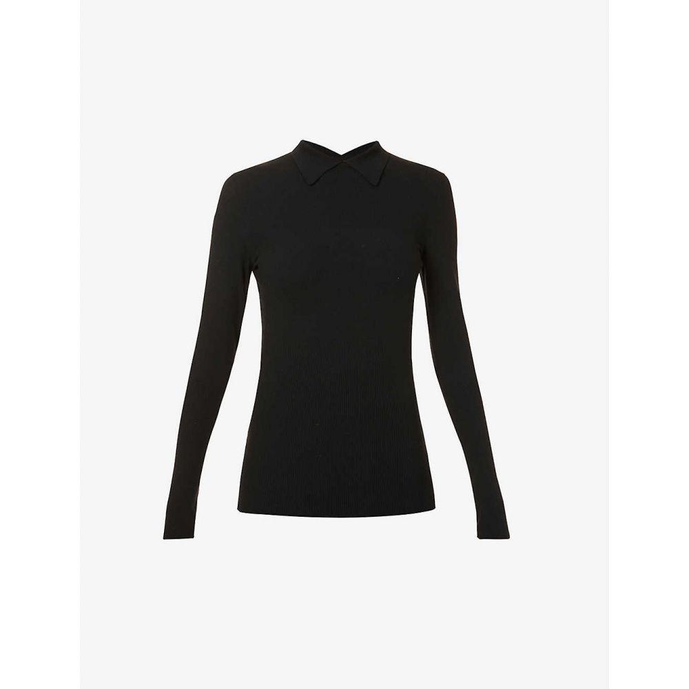 毎日続々入荷 驚きの値段 アズディンアライア レディース トップス その他トップス サイズ交換無料 AZZEDINE ALAIA top wool-blend Long-sleeved BLACK