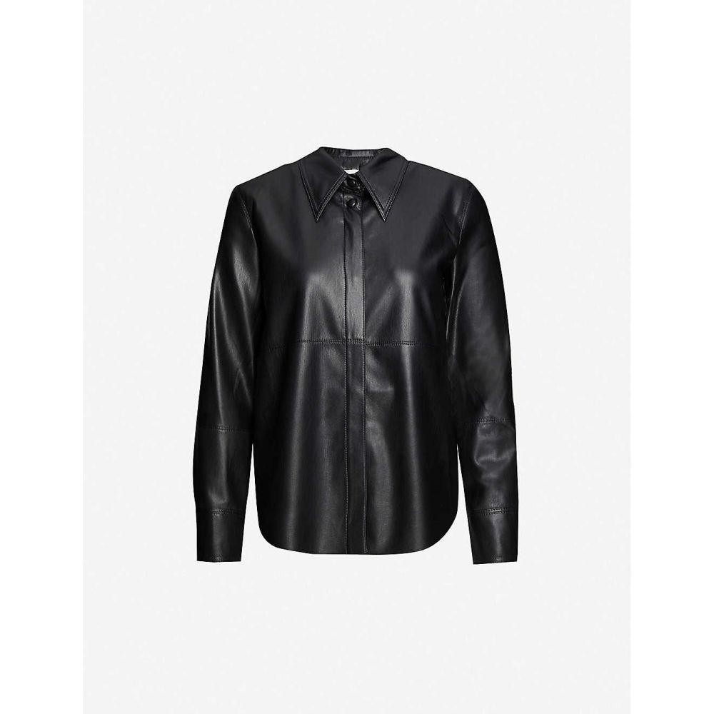 ナヌシュカ NANUSHKA レディース ブラウス・シャツ トップス【Naum vegan-leather shirt】BLACK