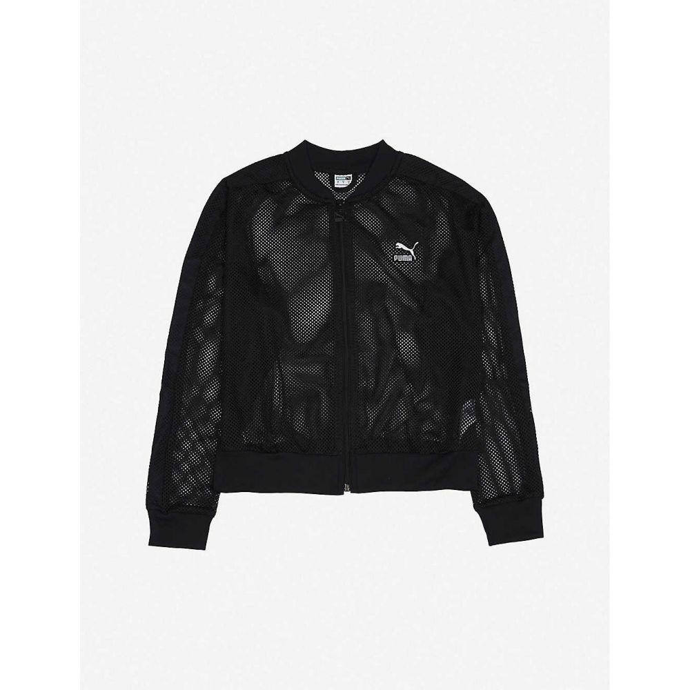 プーマ PUMA レディース ブルゾン アウター【Logo-embossed mesh jacket】PUMA BLACK
