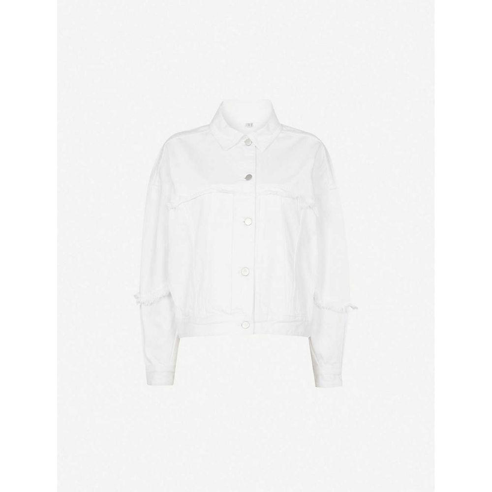 ジェイ ブランド J BRAND レディース ジャケット Gジャン アウター【Drew cropped denim jacket】White