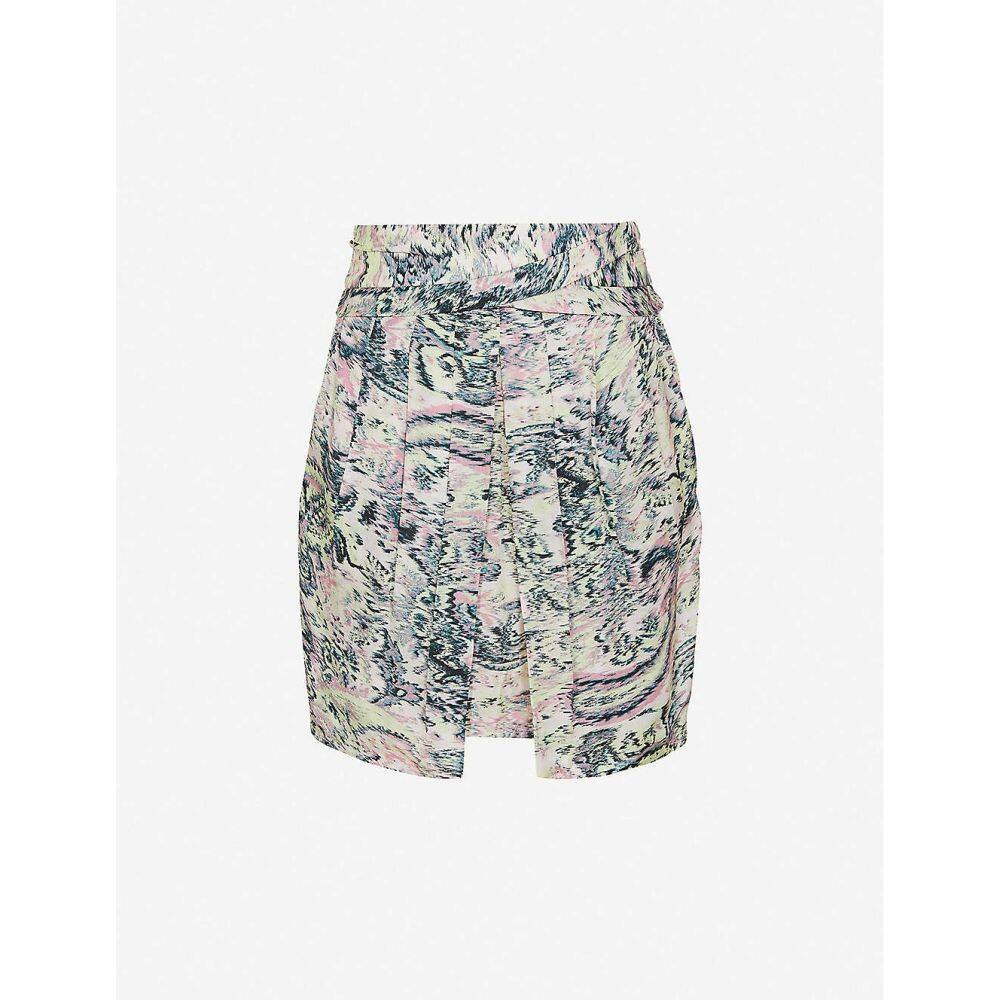 リース floral-print skirt】GREEN ミニスカート スカート【Amy レディース PRINT high-waist REISS mini