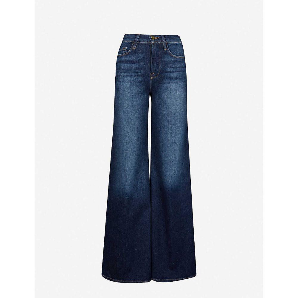 フレーム FRAME レディース ジーンズ・デニム ボトムス・パンツ【Le Palazzo wide-leg faded high-rise stretch-denim jeans】Allesandro