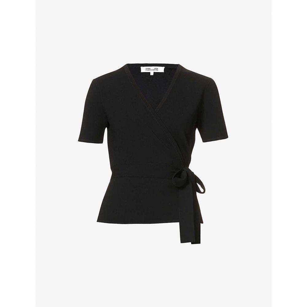 ダイアン フォン ファステンバーグ DIANE VON FURSTENBERG レディース ニット・セーター トップス【Mirella wrap-over knitted top】BLACK