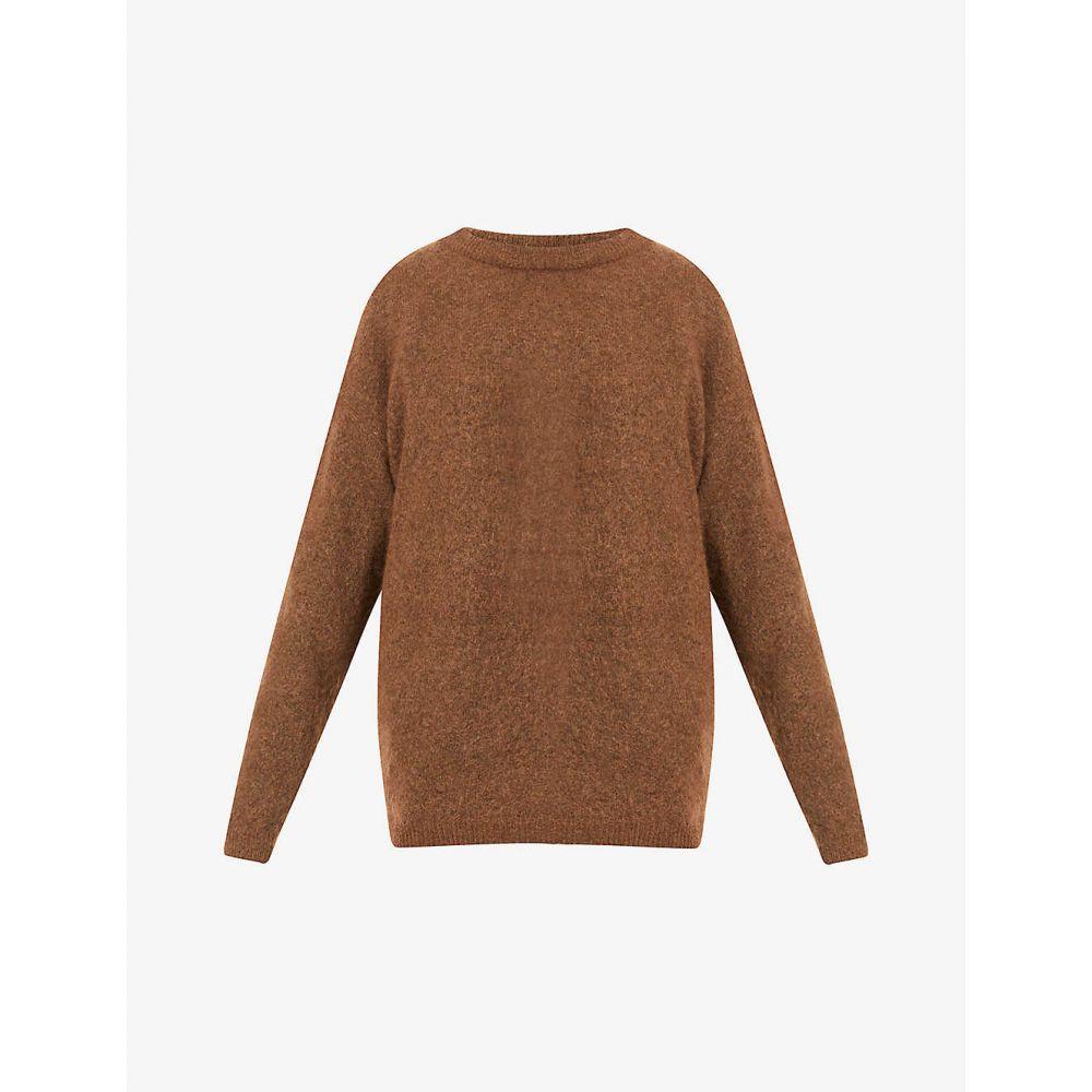 アクネ ストゥディオズ ACNE STUDIOS レディース ニット・セーター トップス【Dramatic slim-fit knitted jumper】CINNAMON BROWN