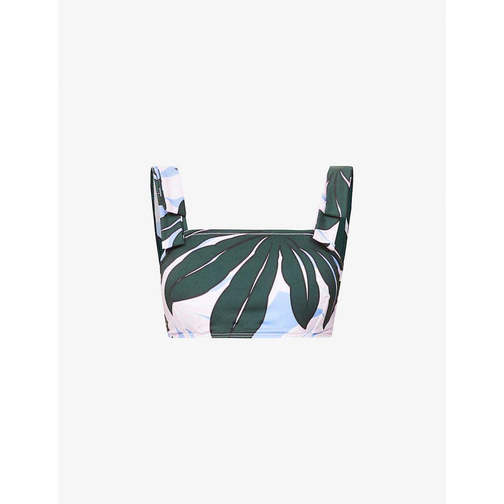 アレクサンドラ ミロ ALEXANDRA MIRO レディース トップのみ 水着・ビーチウェア【Audrey floral-print bikini top】Large Black Palm