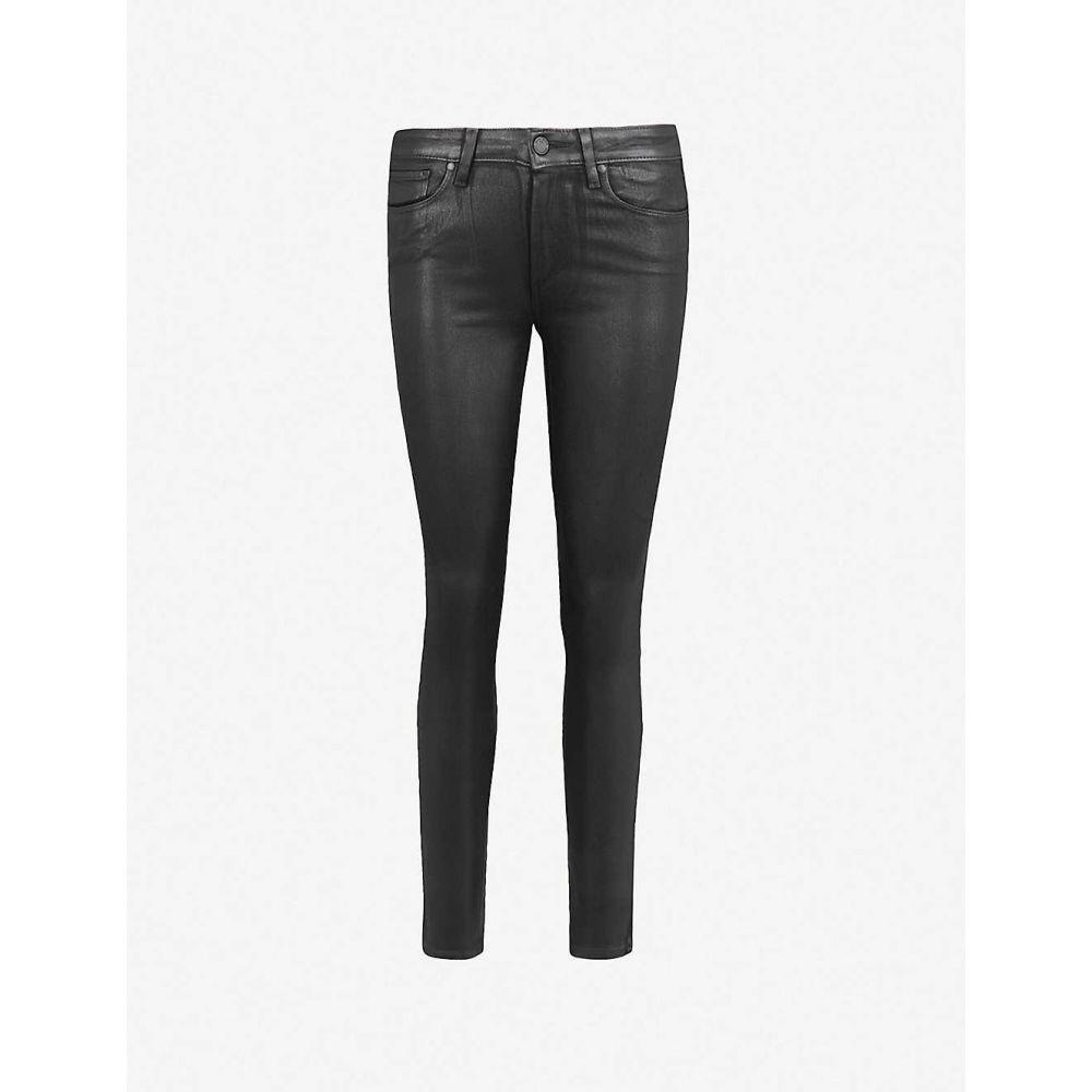 ペイジ PAIGE レディース ジーンズ・デニム ボトムス・パンツ【Hoxton Ankle ultra-skinny high-rise coated stretch-denim jeans】BLACK FOG LUXE