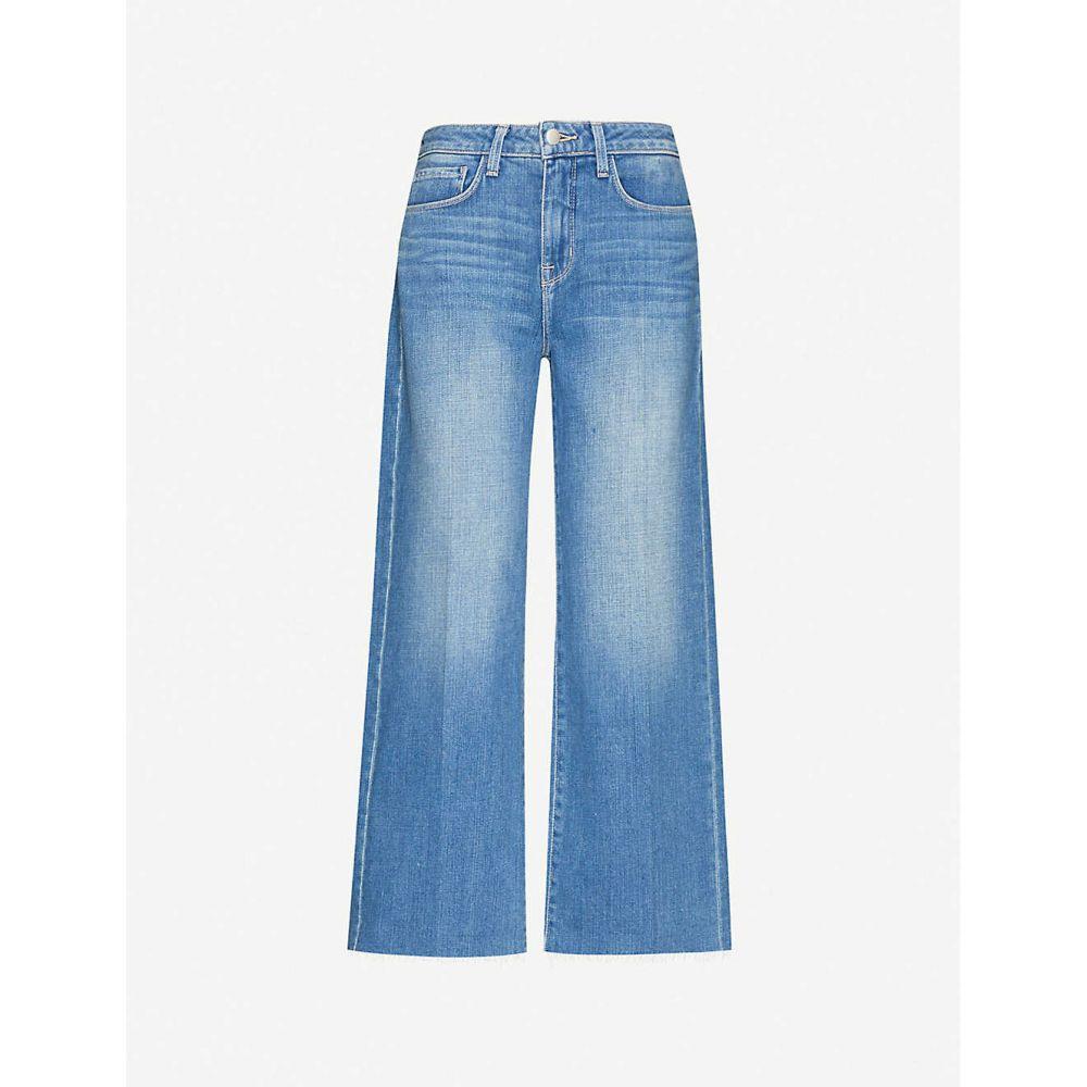 ラジャンス L'AGENCE レディース ジーンズ・デニム ボトムス・パンツ【Danica cropped high-rise stretch-denim jeans】Pomona