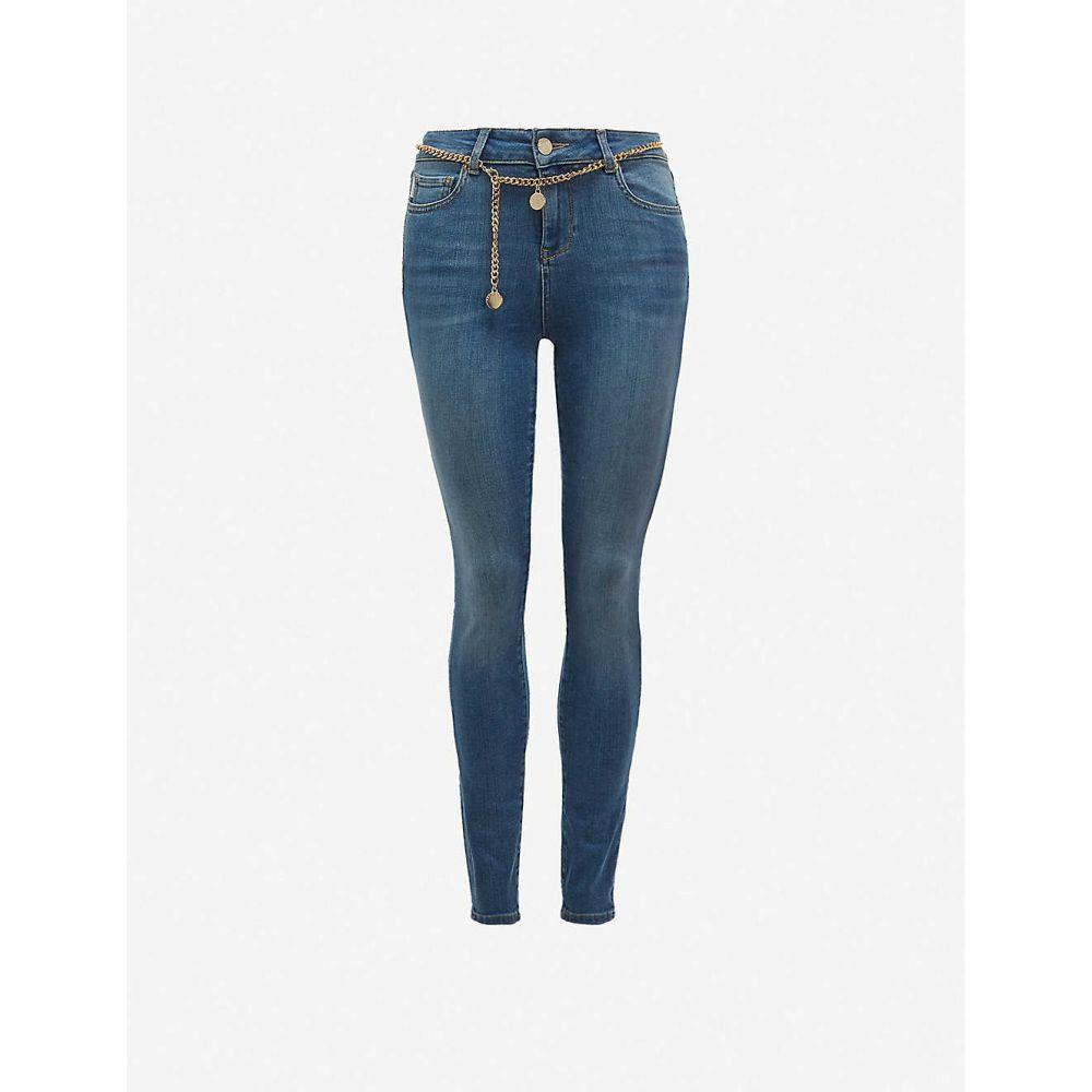テッドベーカー TED BAKER レディース ジーンズ・デニム ボトムス・パンツ【Starel belted skinny mid-rise jeans】LT-BLUE