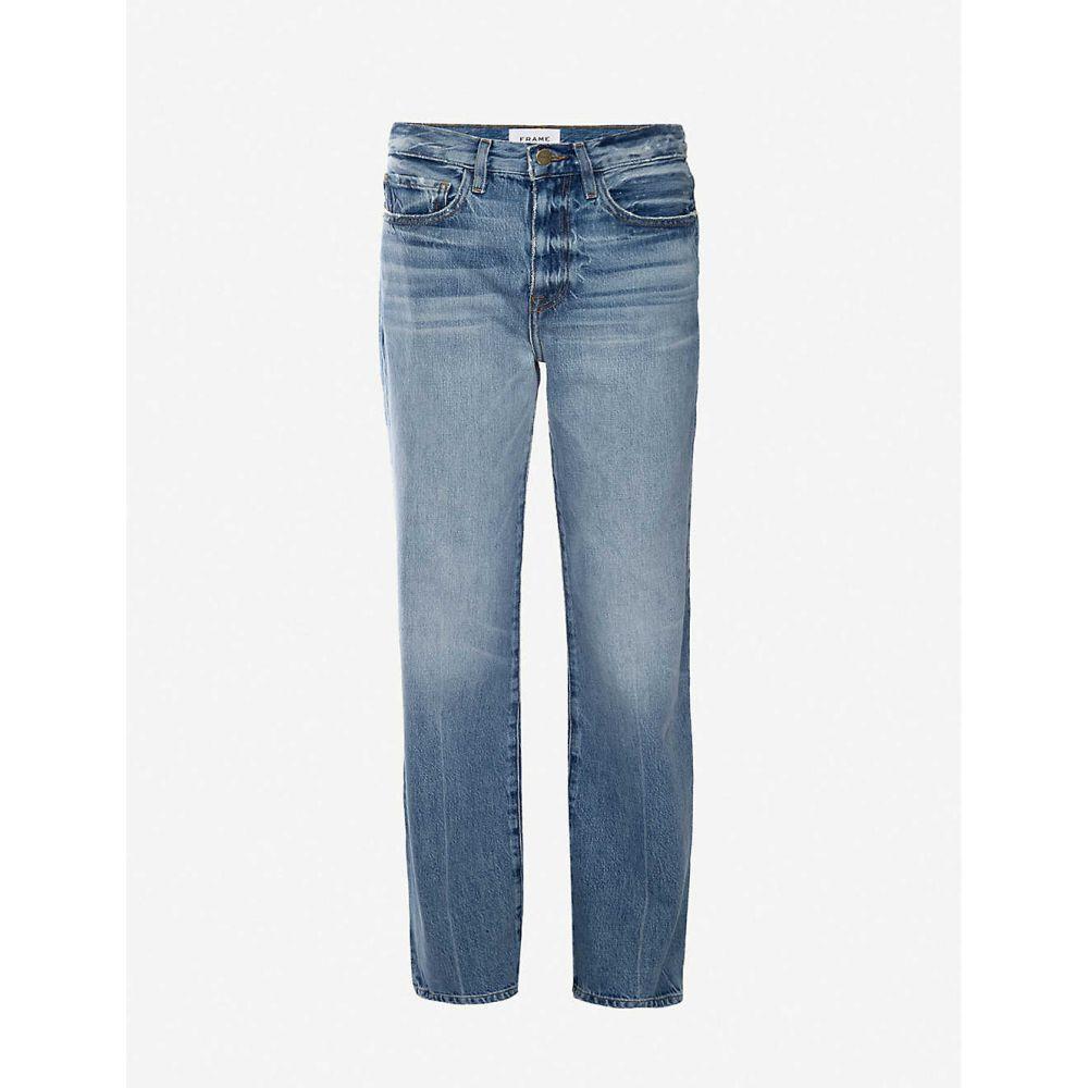 フレーム FRAME レディース ジーンズ・デニム ボトムス・パンツ【Le Jane Glacier straight high-rise jeans】GLACIER