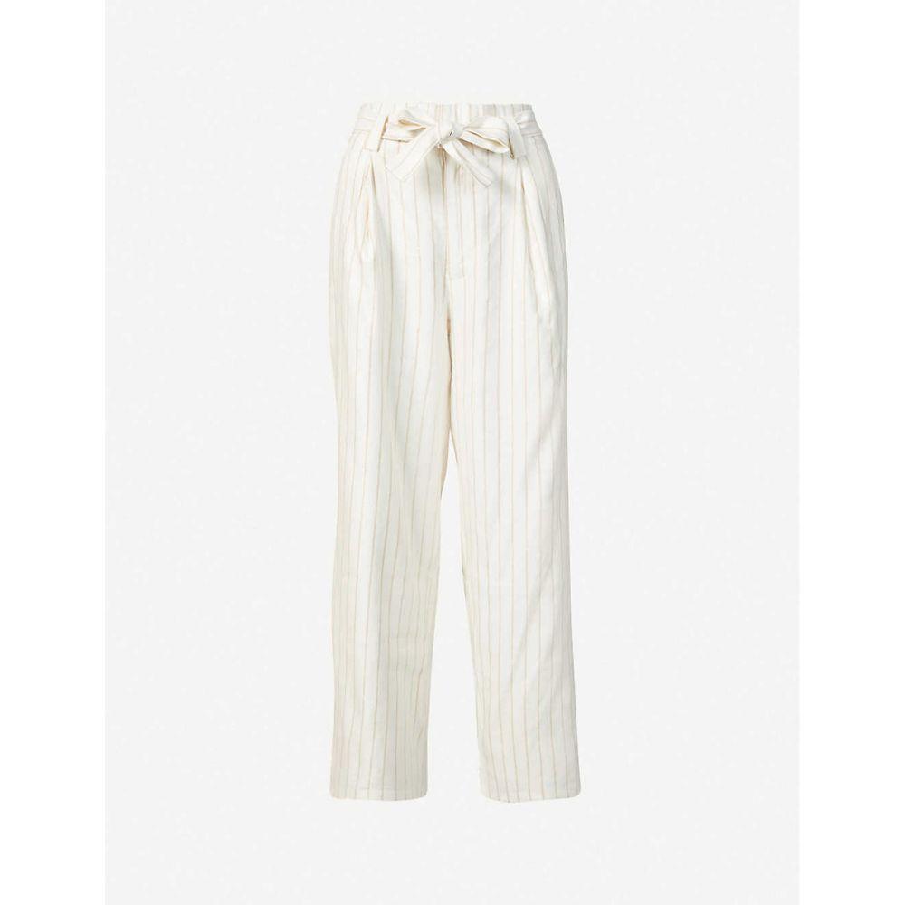 ペイジ PAIGE レディース ボトムス・パンツ 【Nevada high-rise linen-blend trousers】Afterglow/gold
