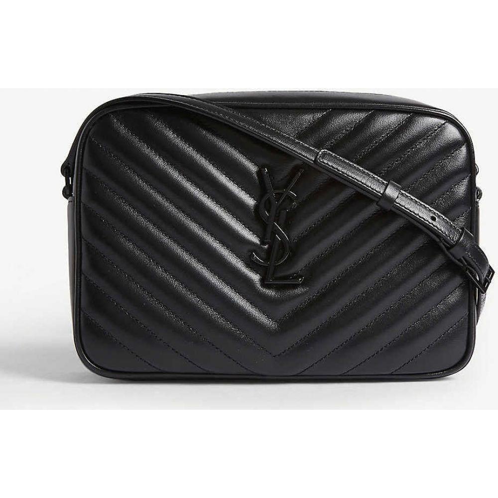 イヴ サンローラン SAINT LAURENT レディース ショルダーバッグ カメラバッグ バッグ Quilted Lou leather camera bag BLACK BLACK 得価,新品