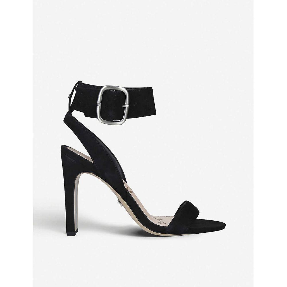 サム エデルマン SAM EDELMAN レディース サンダル・ミュール シューズ・靴【Yola suede heeled sandals】BLACK