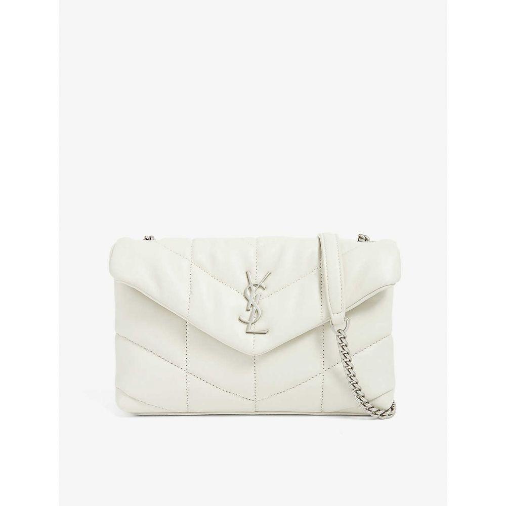 イヴ サンローラン SAINT LAURENT レディース ショルダーバッグ バッグ Loulou small monogram puffer shoulder bag White 赤字超特価,定番人気