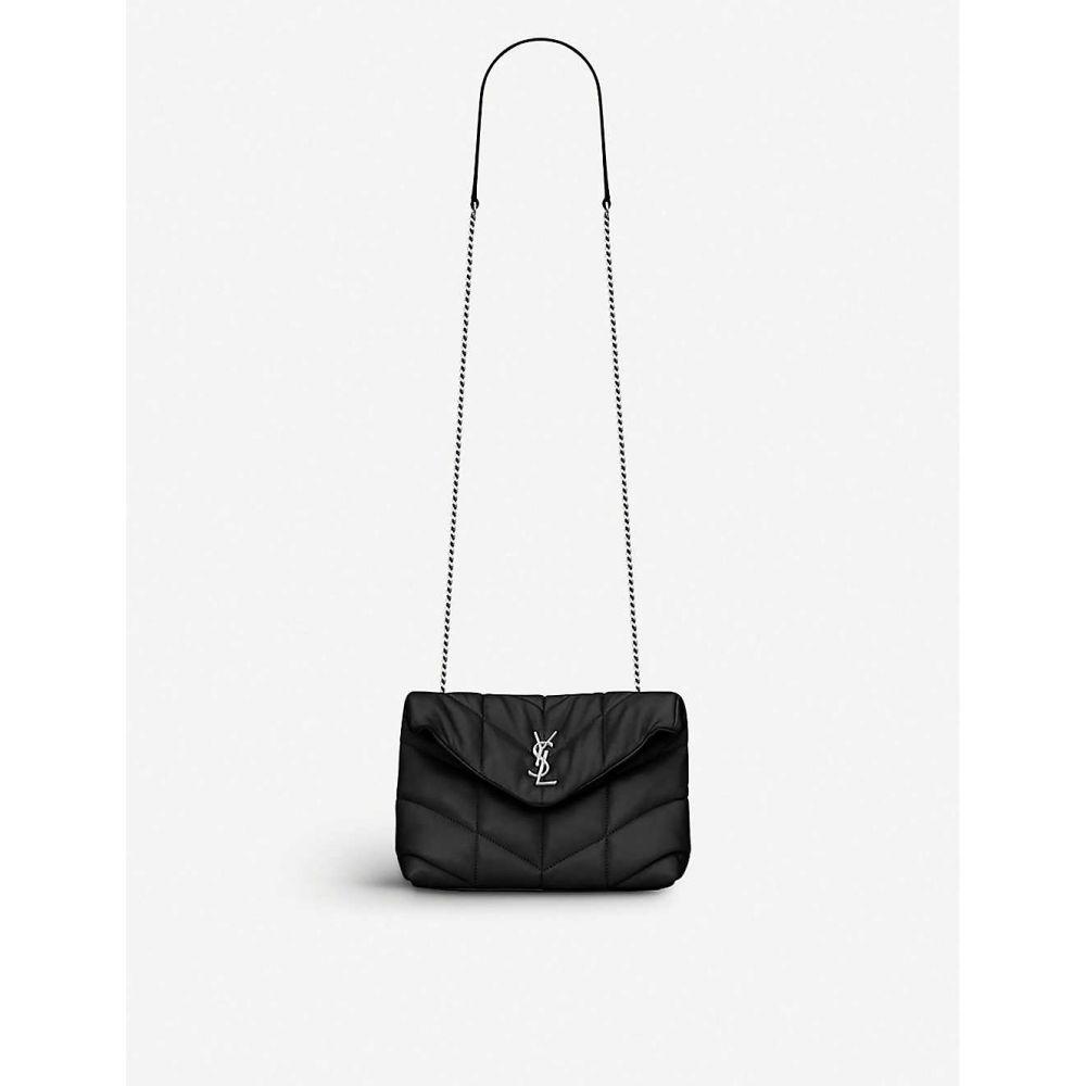 イヴ サンローラン SAINT LAURENT レディース ショルダーバッグ バッグ Loulou padded leather shoulder bag BLACK 大人気,安い