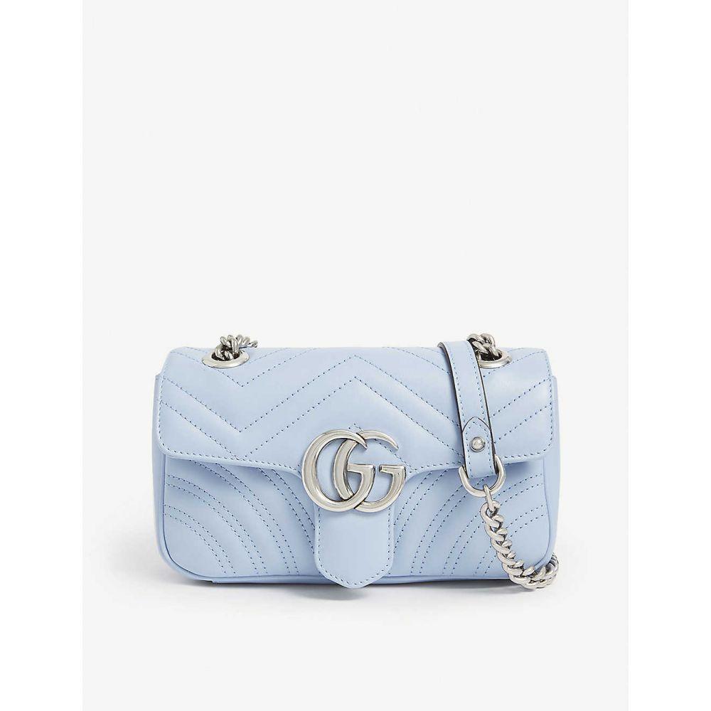 グッチ GUCCI レディース ショルダーバッグ バッグ【Marmont mini leather shoulder bag】PORCELAIN BLUE