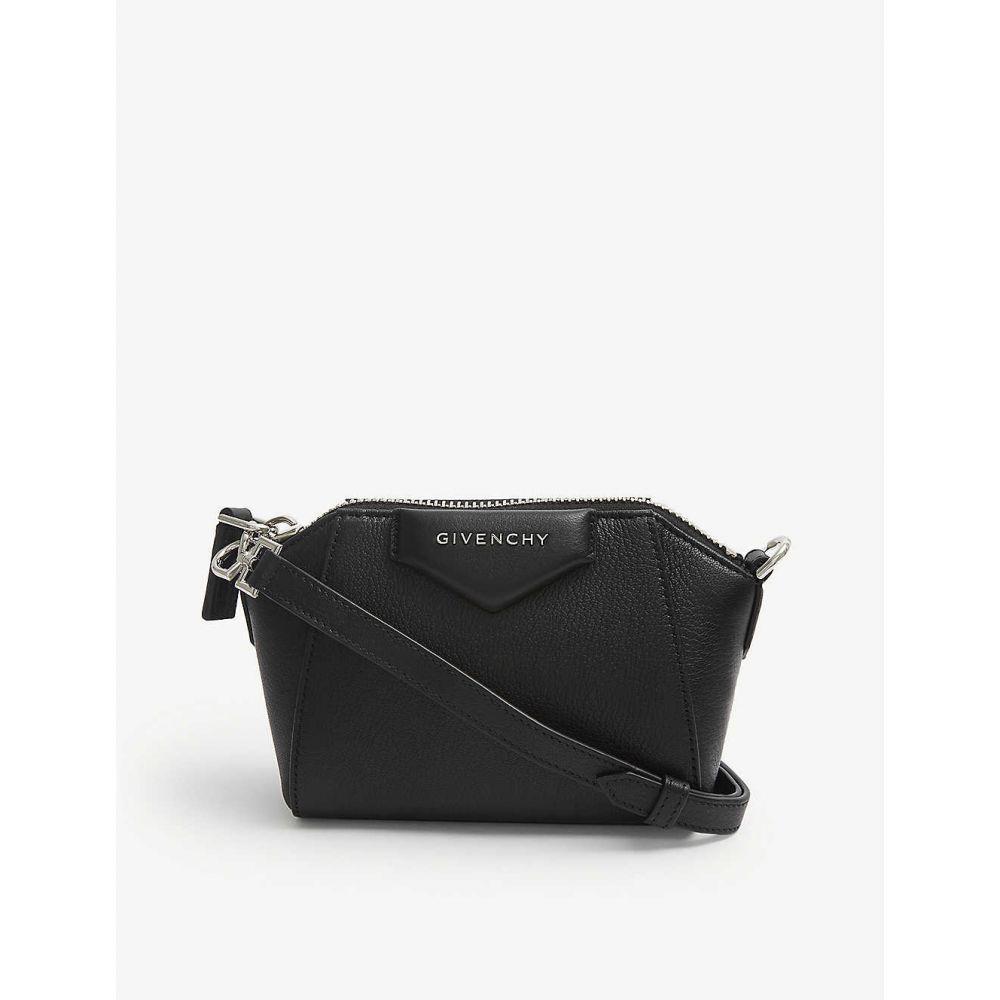 ジバンシー GIVENCHY レディース ショルダーバッグ バッグ【Antigona Nano leather shoulder bag】BLACK