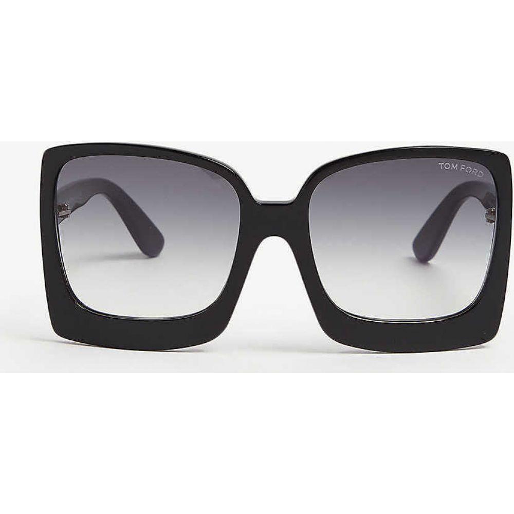 トム フォード TOM FORD レディース メガネ・サングラス スクエアフレーム【Katrine square-frame sunglasses】Black