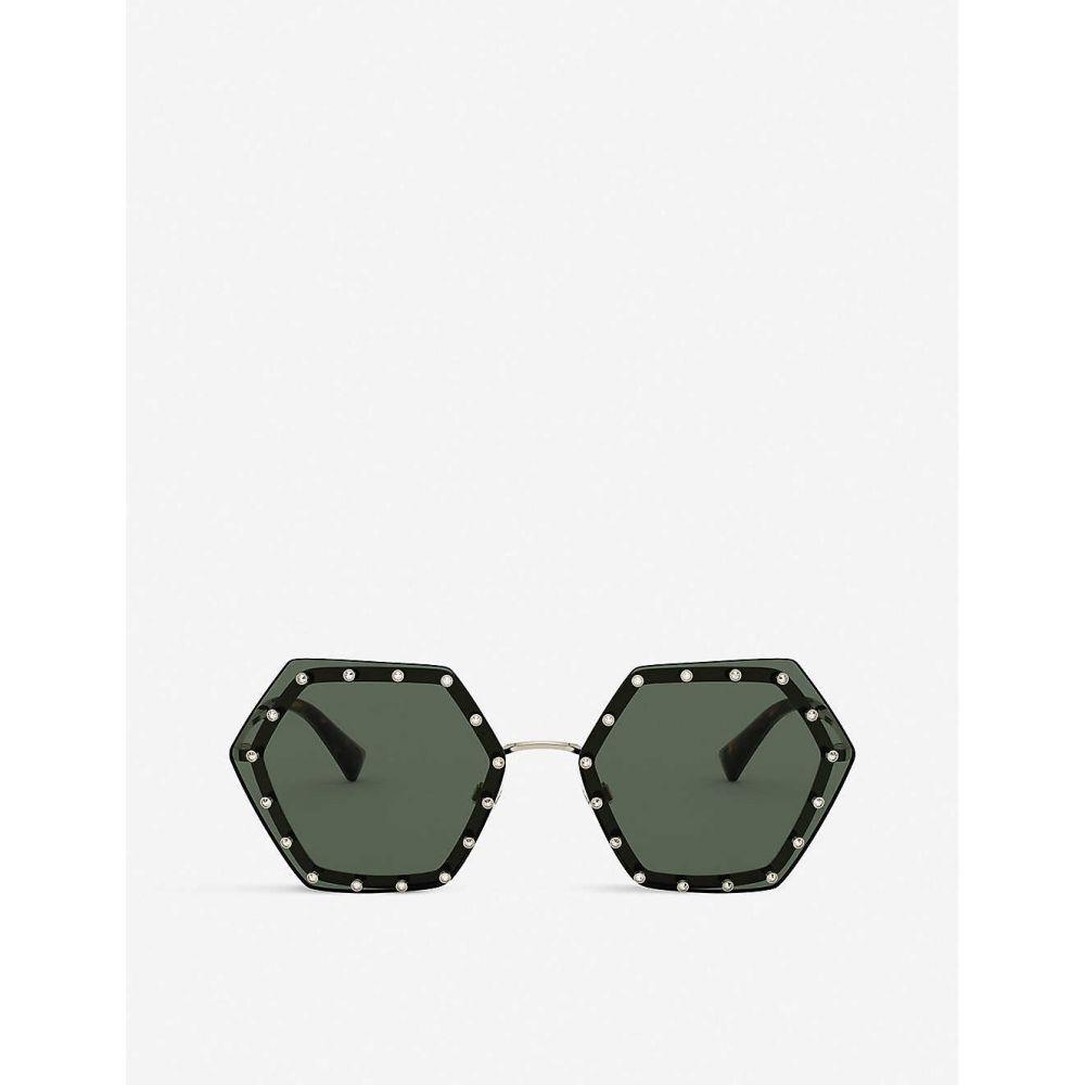 ヴァレンティノ VALENTINO GARAVANI レディース メガネ・サングラス 【VA2035 metal and acetate hexagonal-shape sunglasses】GOLD