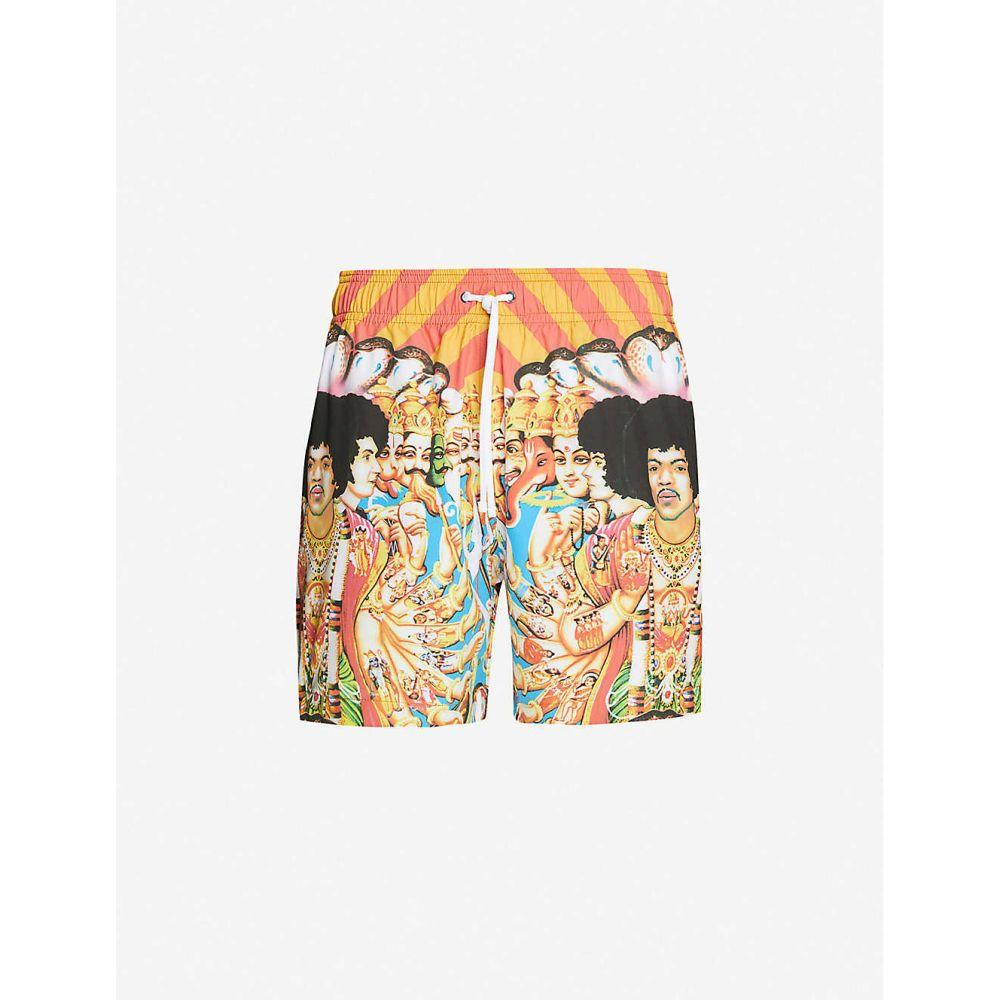 アミリ AMIRI メンズ 海パン ショートパンツ 水着・ビーチウェア【Jimi Hendrix graphic-print swim shorts】RED