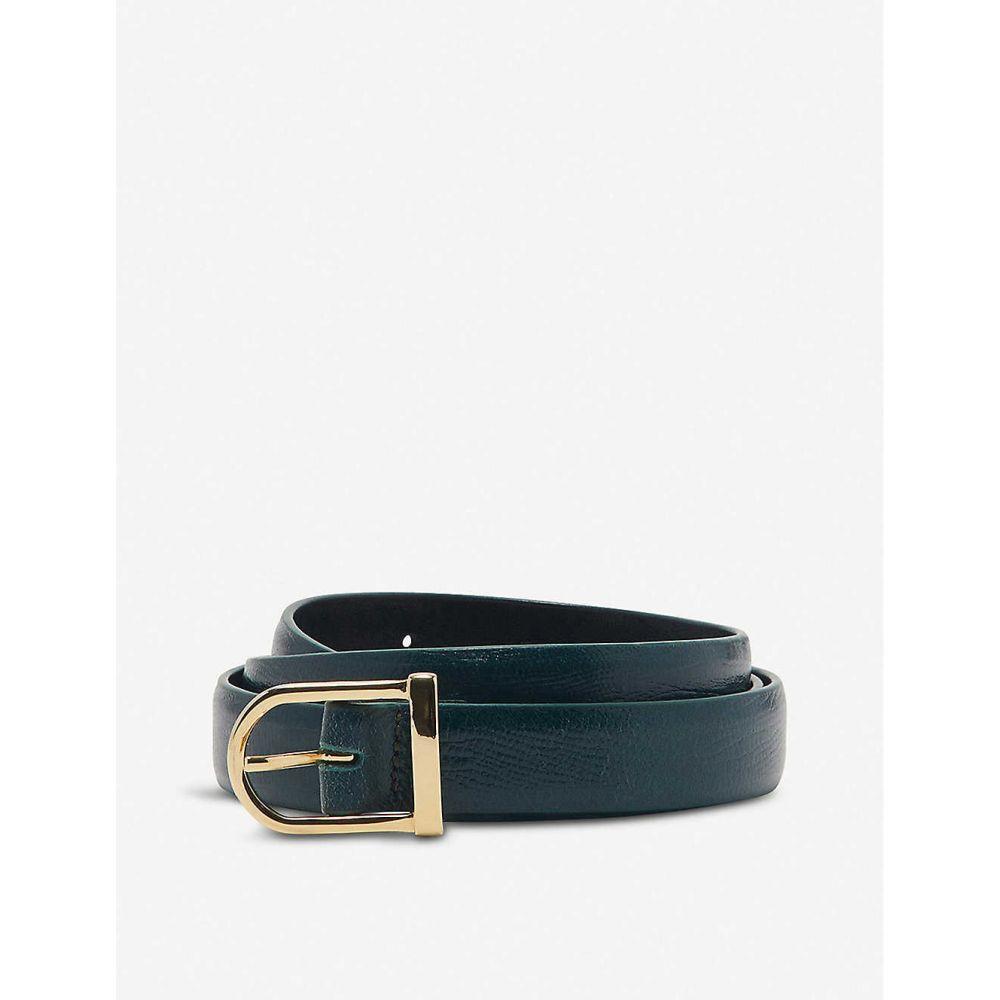 サンドロ SANDRO レディース ベルト 【Lezy lizard-embossed leather belt】BOTTLE GREEN