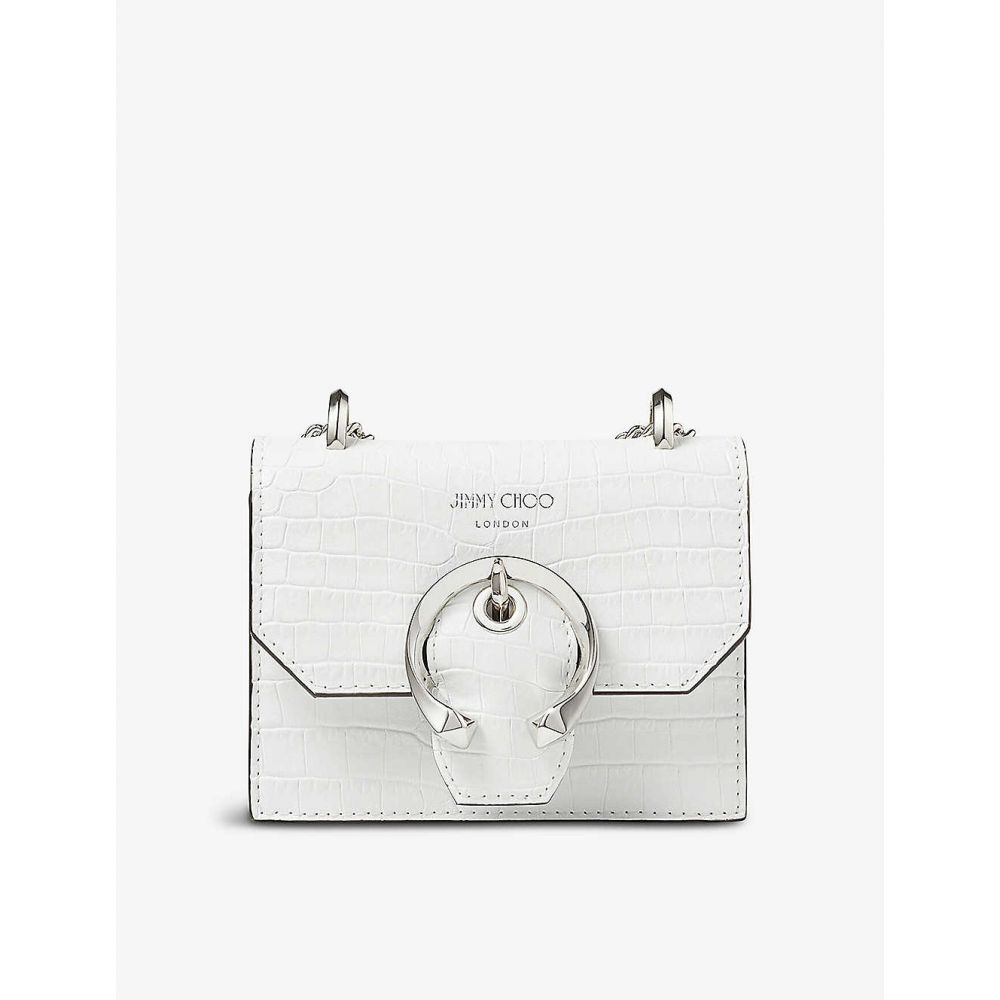 ジミー チュウ JIMMY CHOO レディース ショルダーバッグ バッグ【Paris mini crocodile-embossed leather cross-body bag】LATTE
