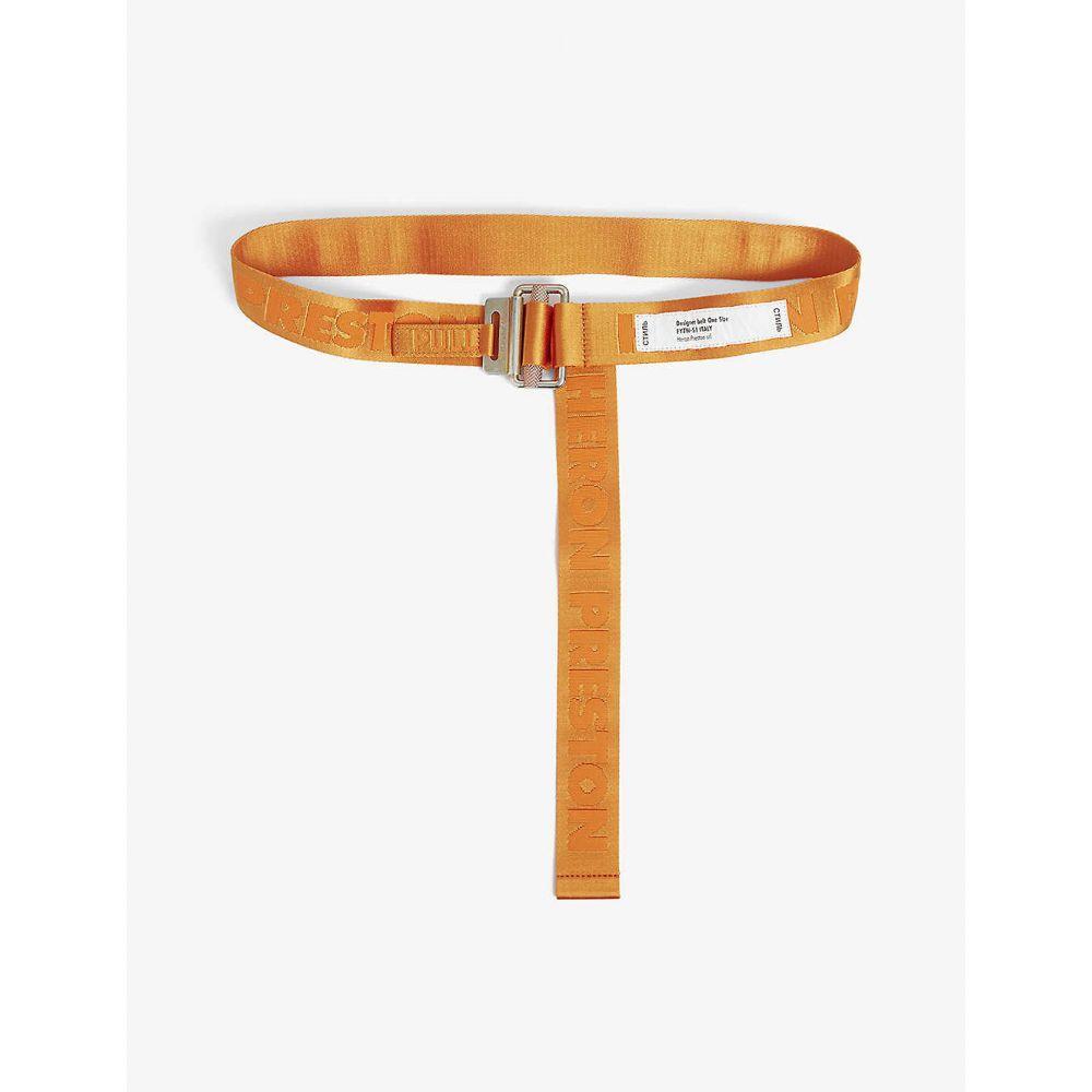 ヘロン プレストン HERON PRESTON レディース ベルト 【Logo tape belt】Orange Gold