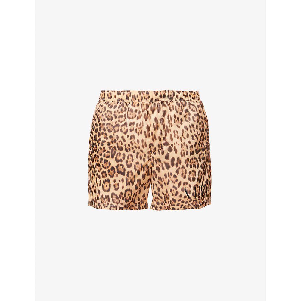 ヴァレンティノ VALENTINO GARAVANI メンズ 海パン ショートパンツ 水着・ビーチウェア【Leopard-print swim shorts】St. V-leo