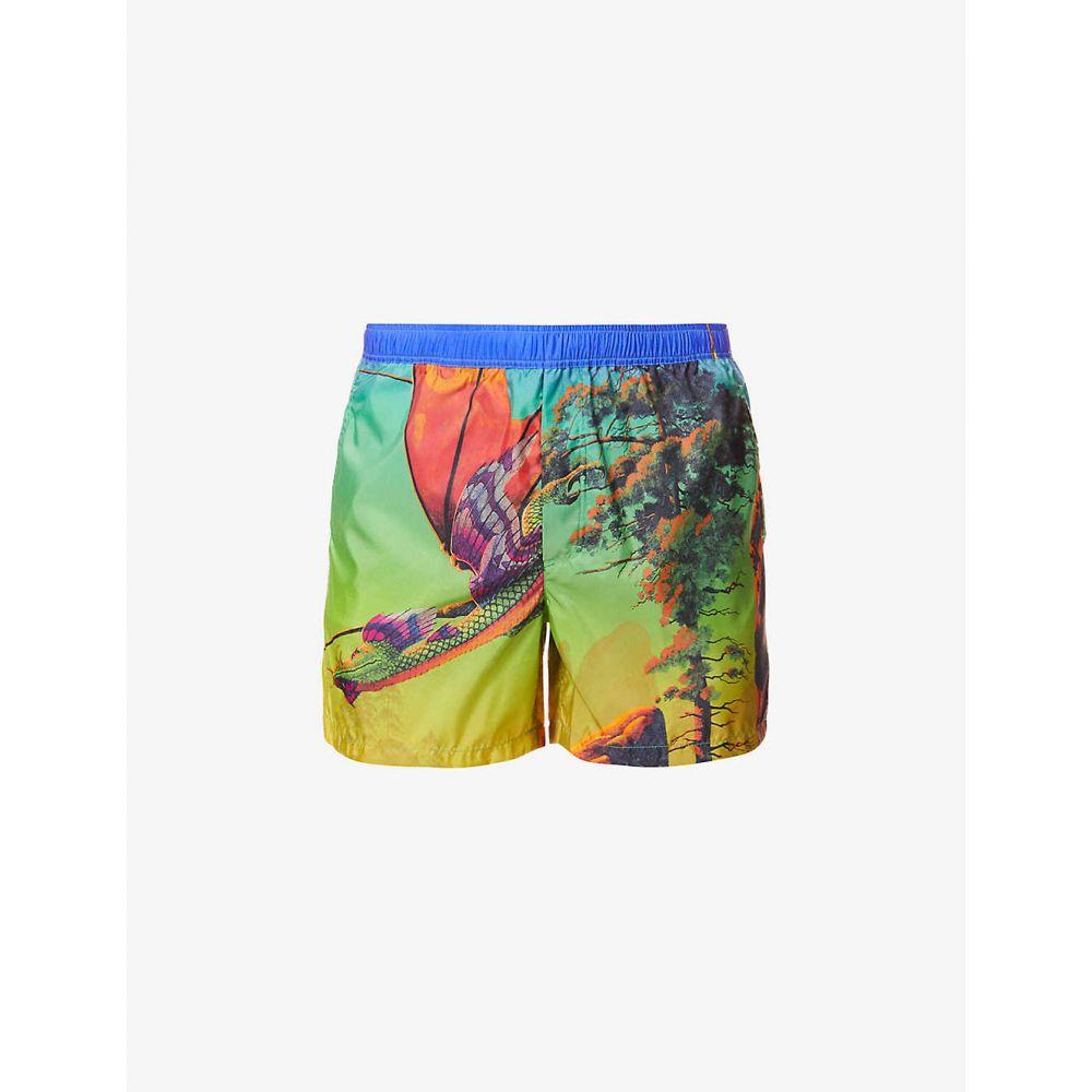 ヴァレンティノ VALENTINO GARAVANI メンズ 海パン ショートパンツ 水着・ビーチウェア【Dragon-print swim shorts】St. Dragon At Dawn