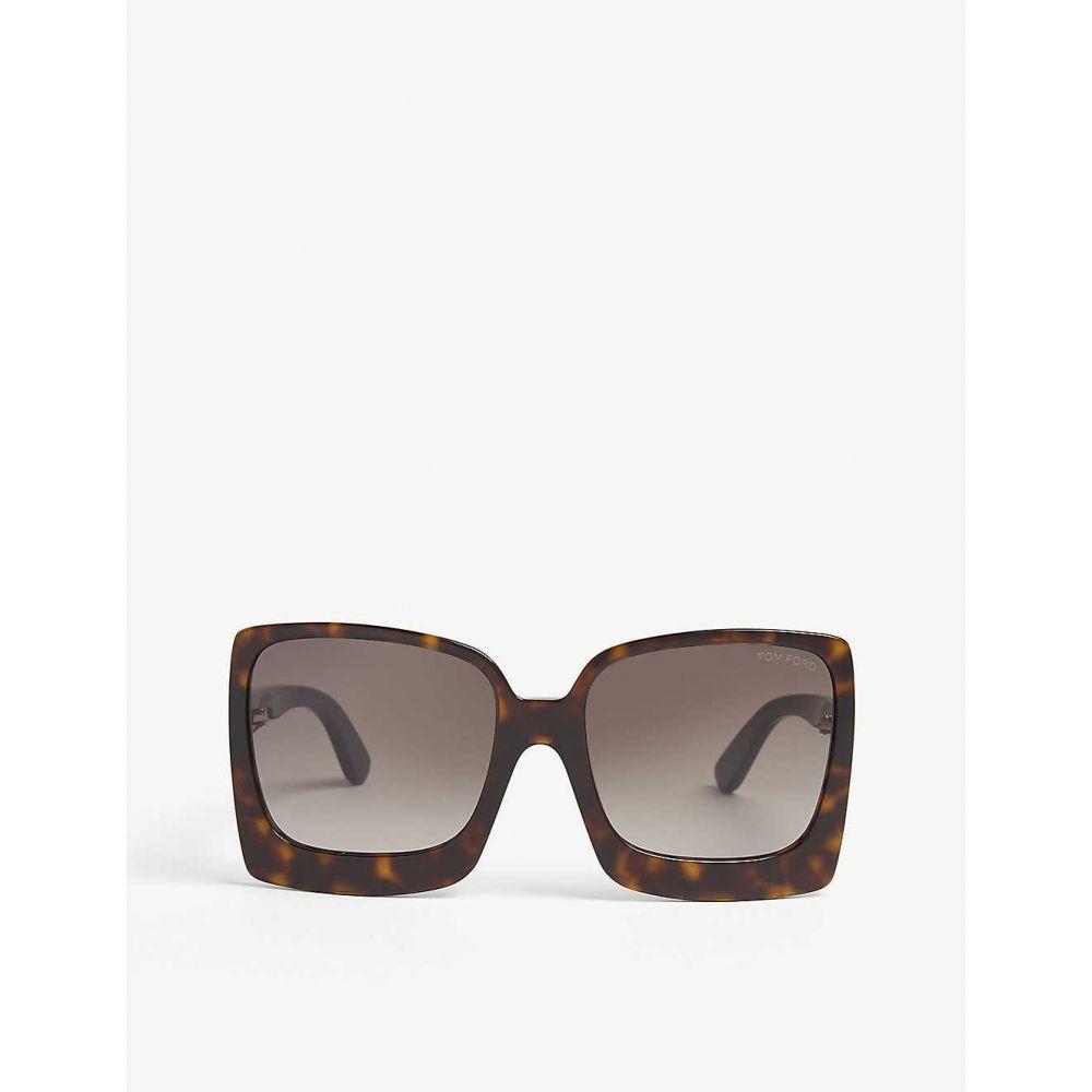 トム フォード TOM FORD レディース メガネ・サングラス スクエアフレーム【Katrine square-frame sunglasses】Havana