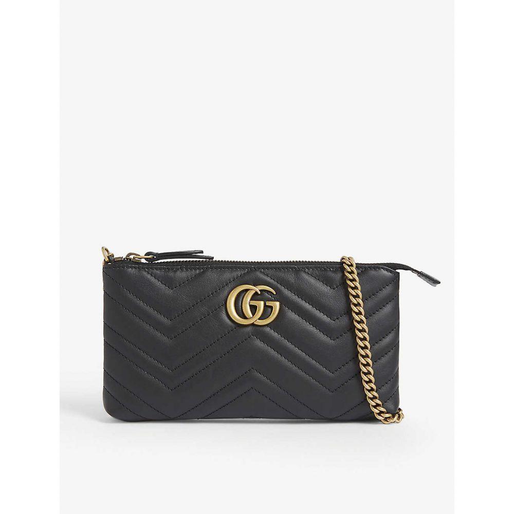 グッチ GUCCI レディース ショルダーバッグ バッグ【GG Marmont mini leather shoulder bag】NERO