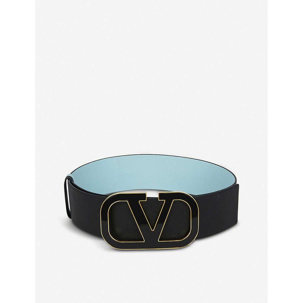 ヴァレンティノ VALENTINO GARAVANI レディース ベルト 【VRING reversible leather belt】BLACK/BLACK
